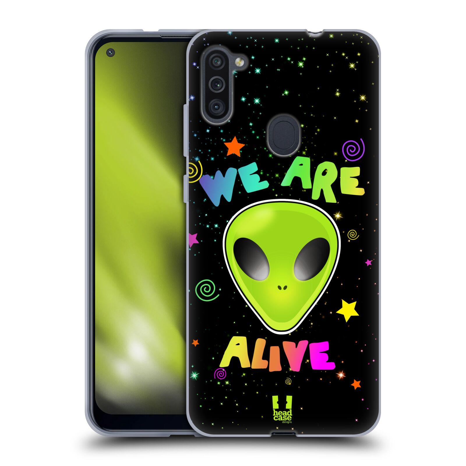 Silikonové pouzdro na mobil Samsung Galaxy M11 - Head Case - ALIENS ALIVE