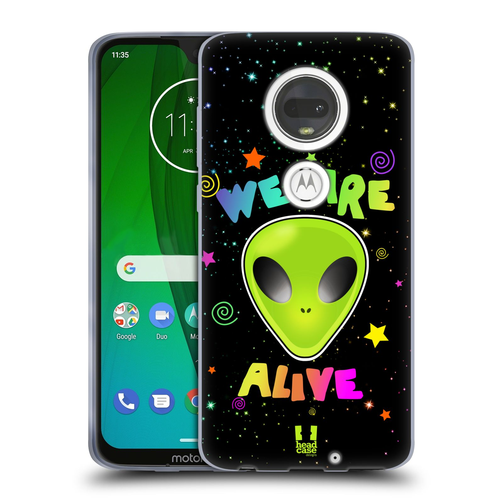 Silikonové pouzdro na mobil Motorola Moto G7 - Head Case - ALIENS ALIVE