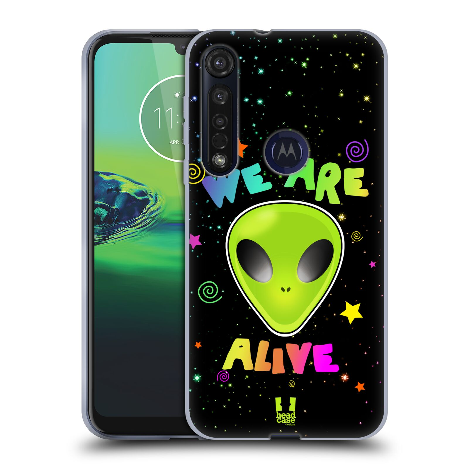 Silikonové pouzdro na mobil Motorola Moto G8 Plus - Head Case - ALIENS ALIVE