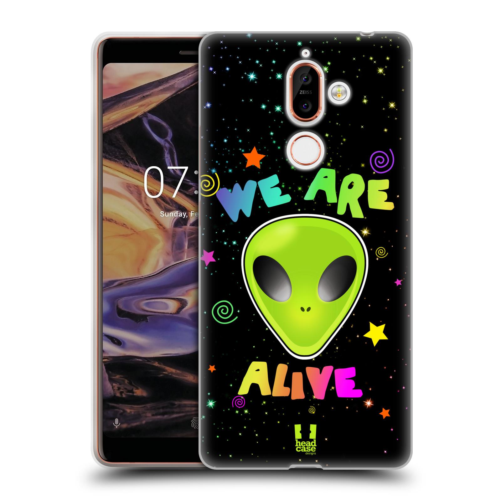 Silikonové pouzdro na mobil Nokia 7 Plus - Head Case - ALIENS ALIVE
