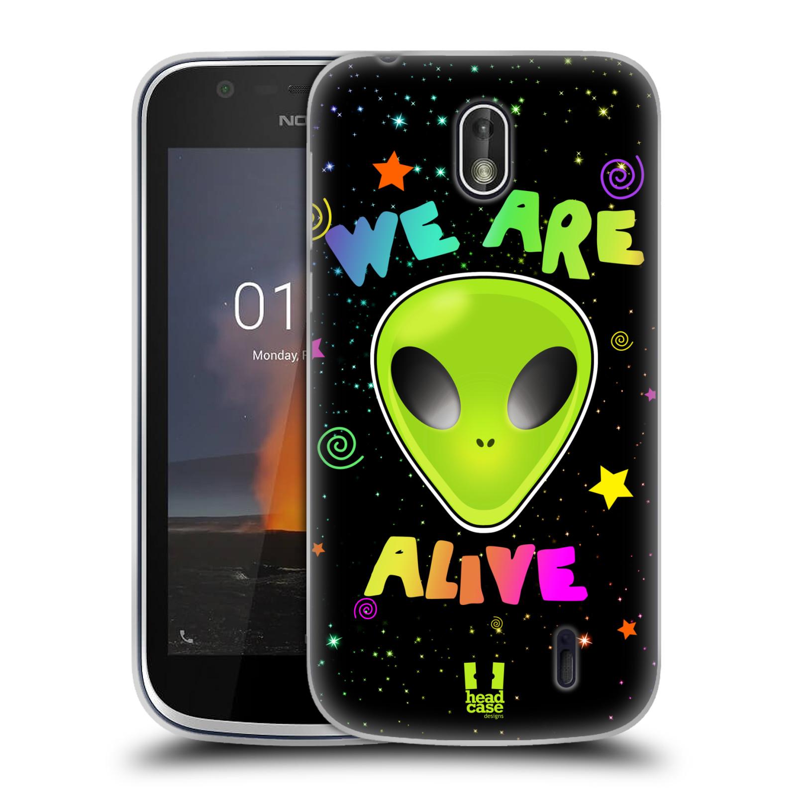 Silikonové pouzdro na mobil Nokia 1 - Head Case - ALIENS ALIVE