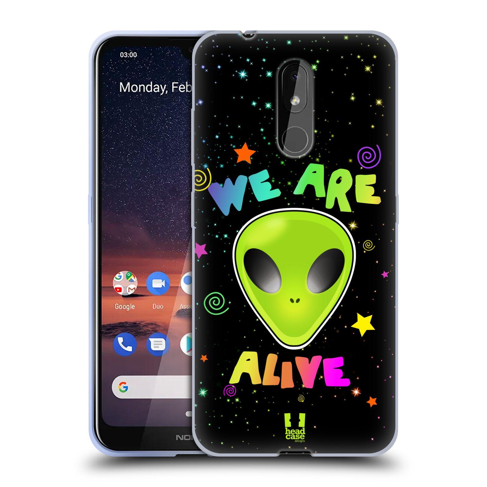 Silikonové pouzdro na mobil Nokia 3.2 - Head Case - ALIENS ALIVE