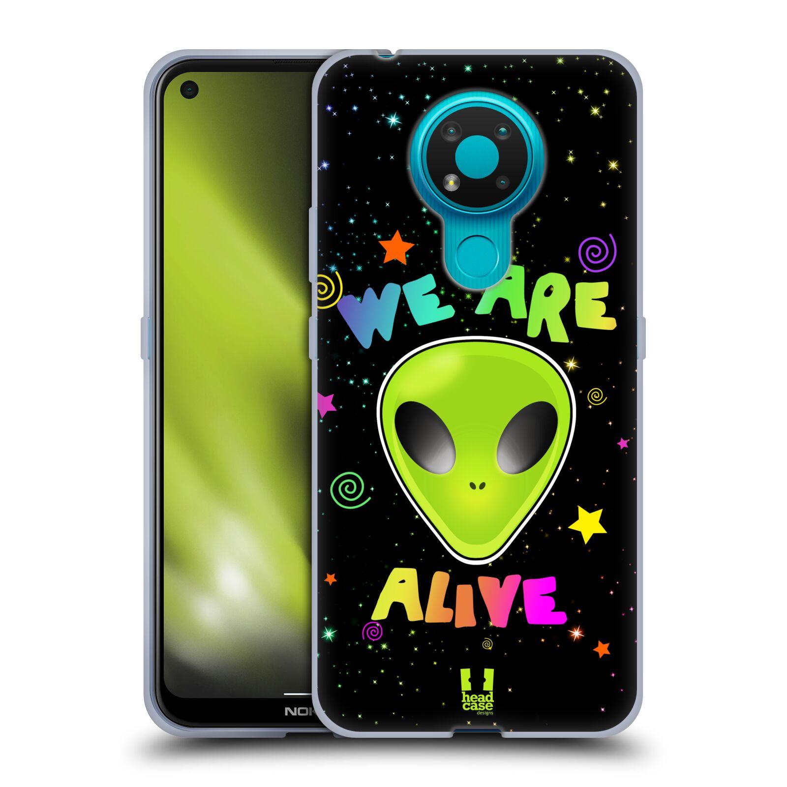 Silikonové pouzdro na mobil Nokia 3.4 - Head Case - ALIENS ALIVE