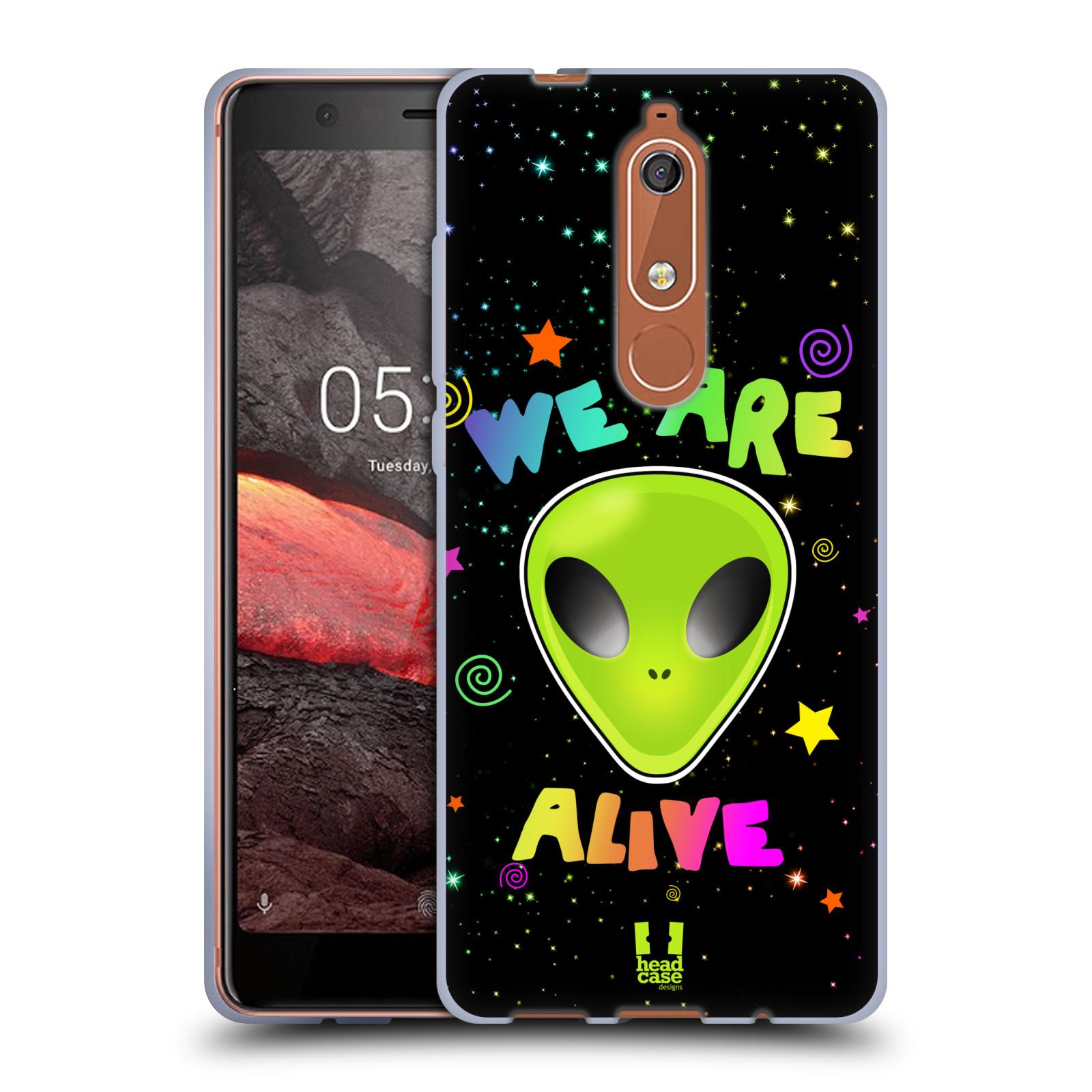 Silikonové pouzdro na mobil Nokia 5.1 - Head Case - ALIENS ALIVE