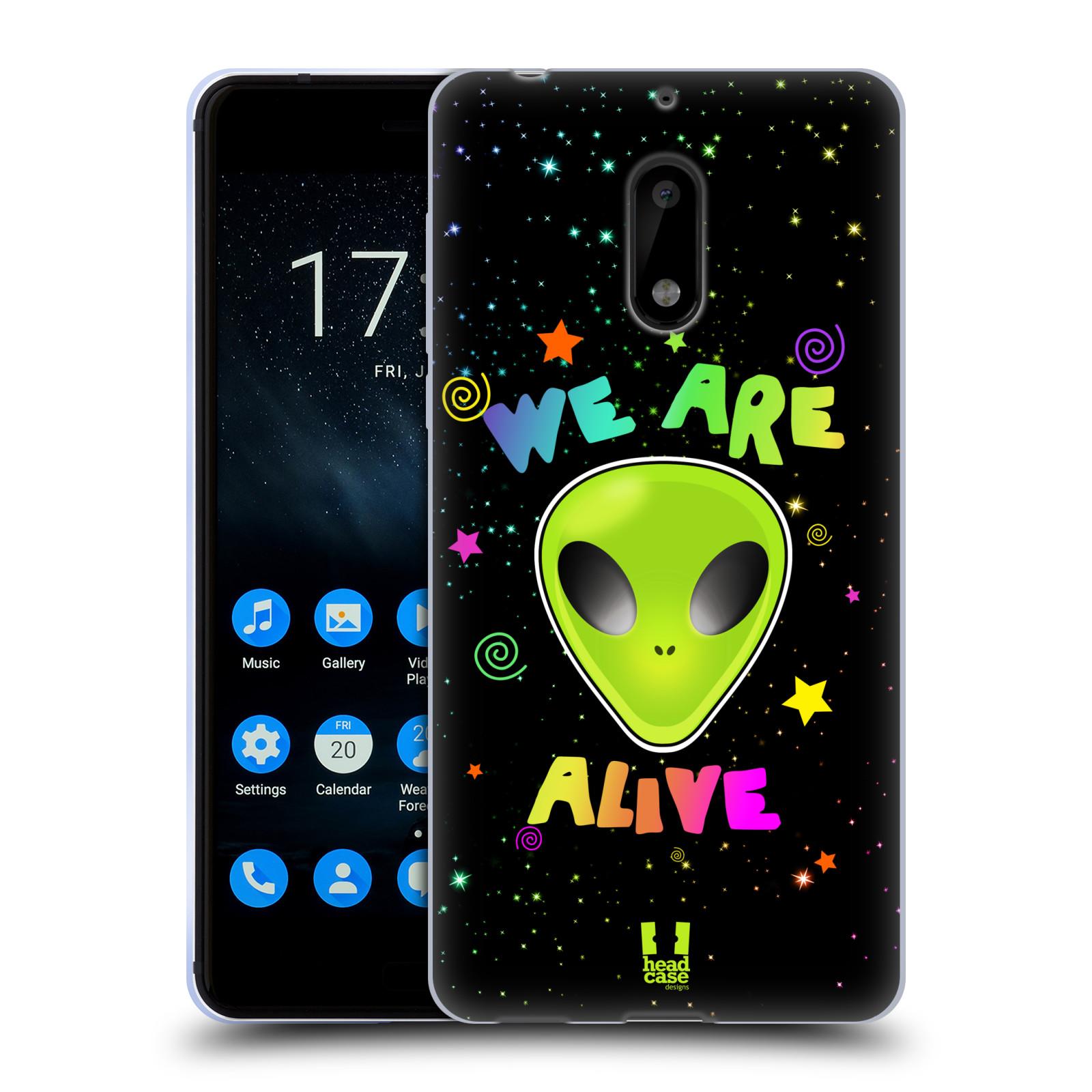 Silikonové pouzdro na mobil Nokia 6 - Head Case - ALIENS ALIVE