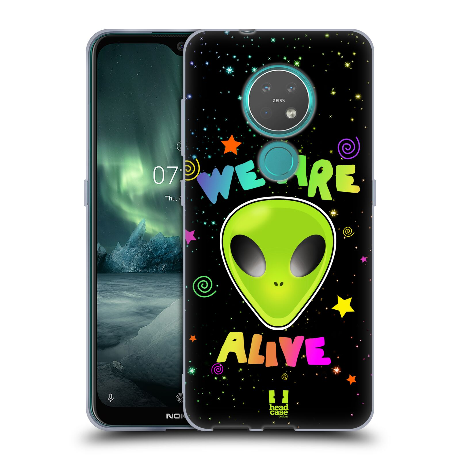 Silikonové pouzdro na mobil Nokia 6.2 - Head Case - ALIENS ALIVE
