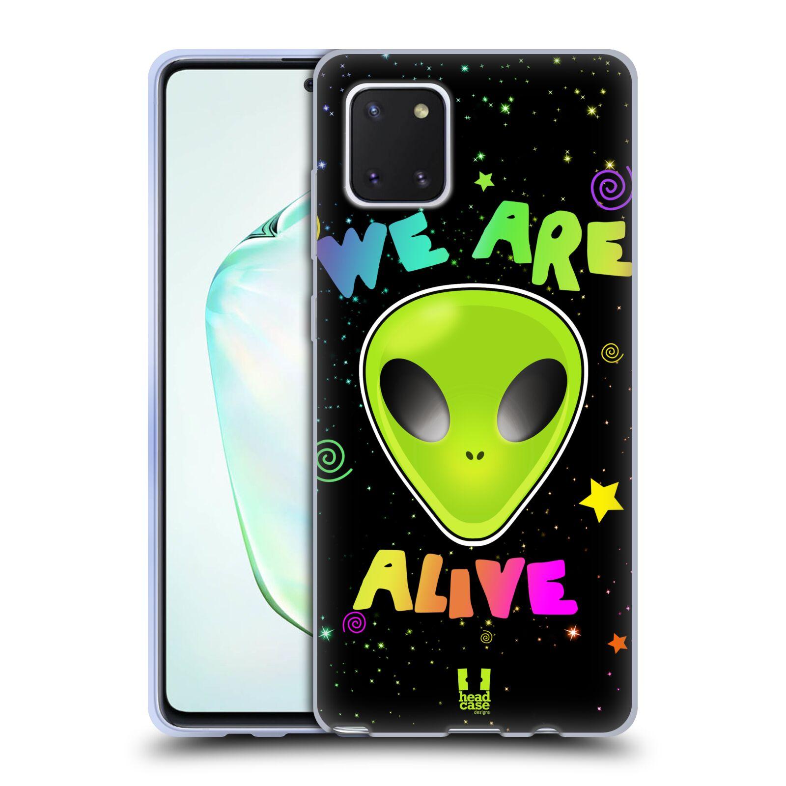 Silikonové pouzdro na mobil Samsung Galaxy Note 10 Lite - Head Case - ALIENS ALIVE