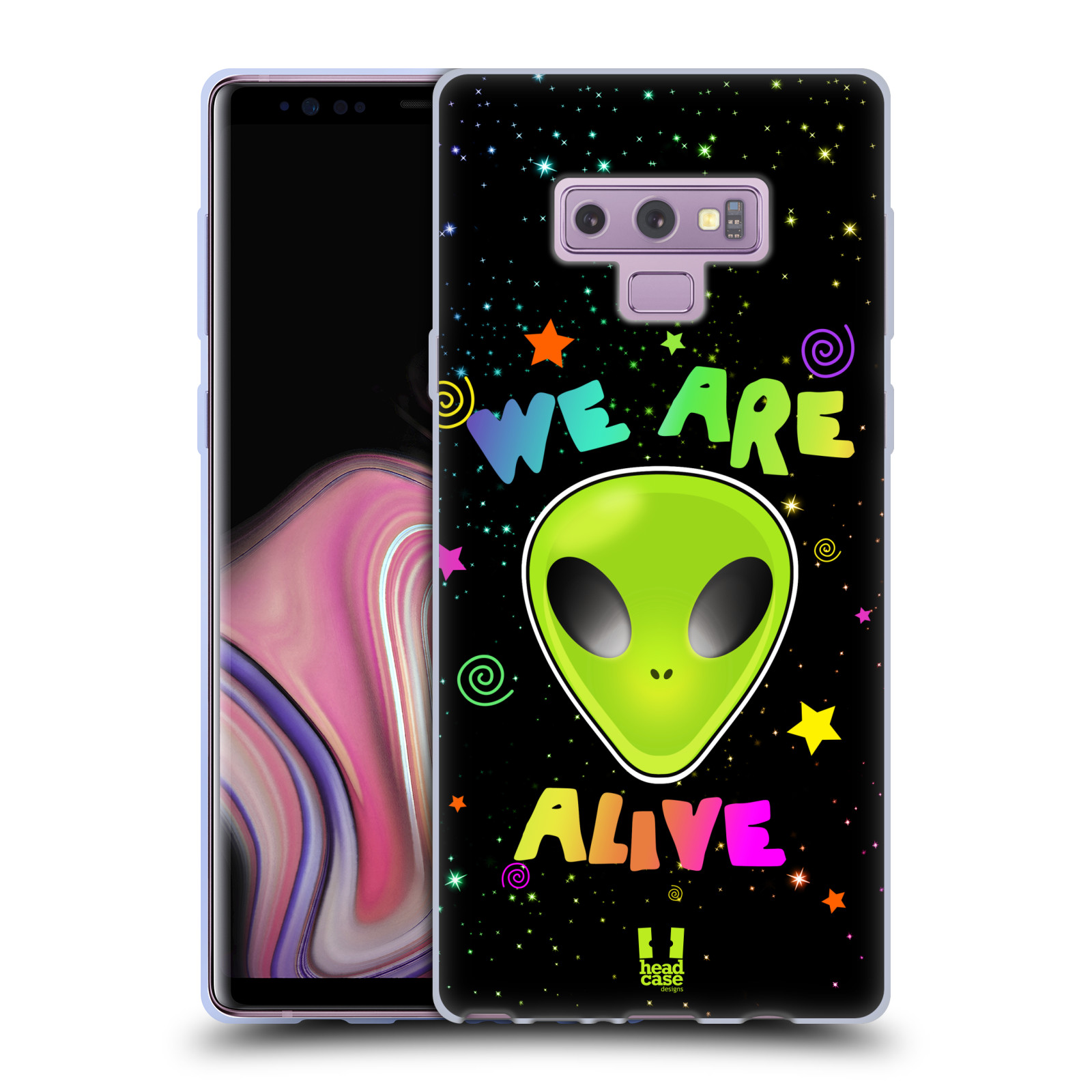 Silikonové pouzdro na mobil Samsung Galaxy Note 9 - Head Case - ALIENS ALIVE