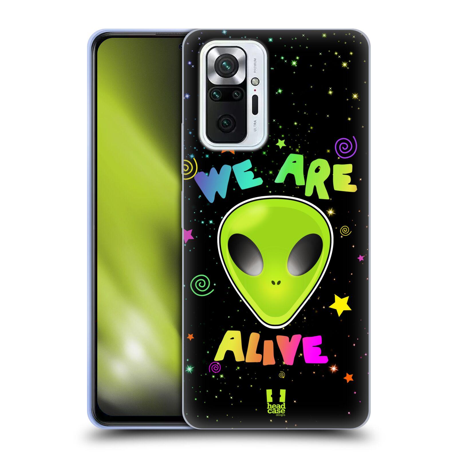 Silikonové pouzdro na mobil Xiaomi Redmi Note 10 Pro - Head Case - ALIENS ALIVE