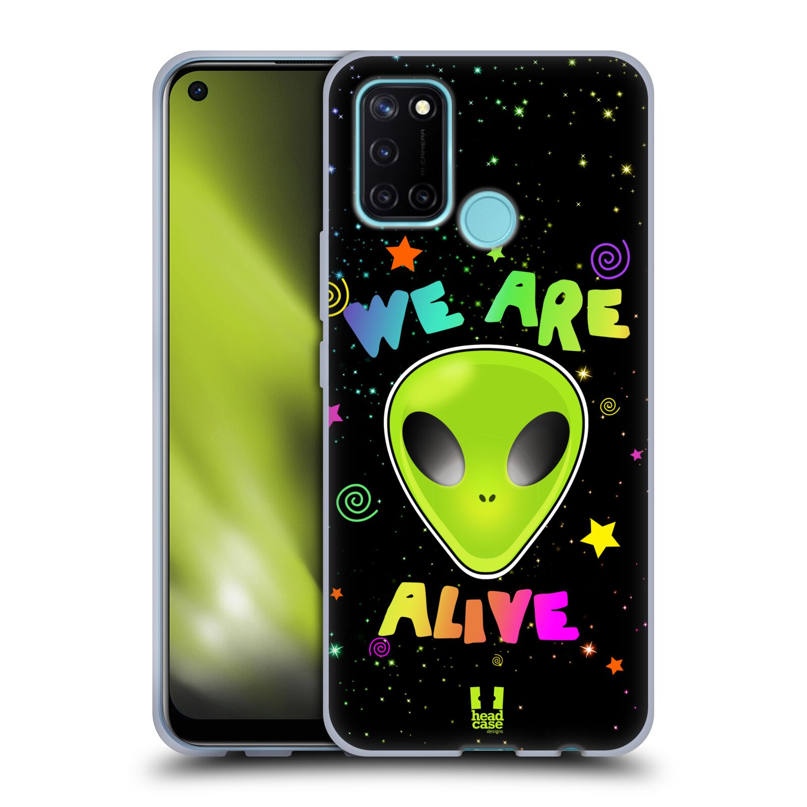 Silikonové pouzdro na mobil Realme 7i - Head Case - ALIENS ALIVE