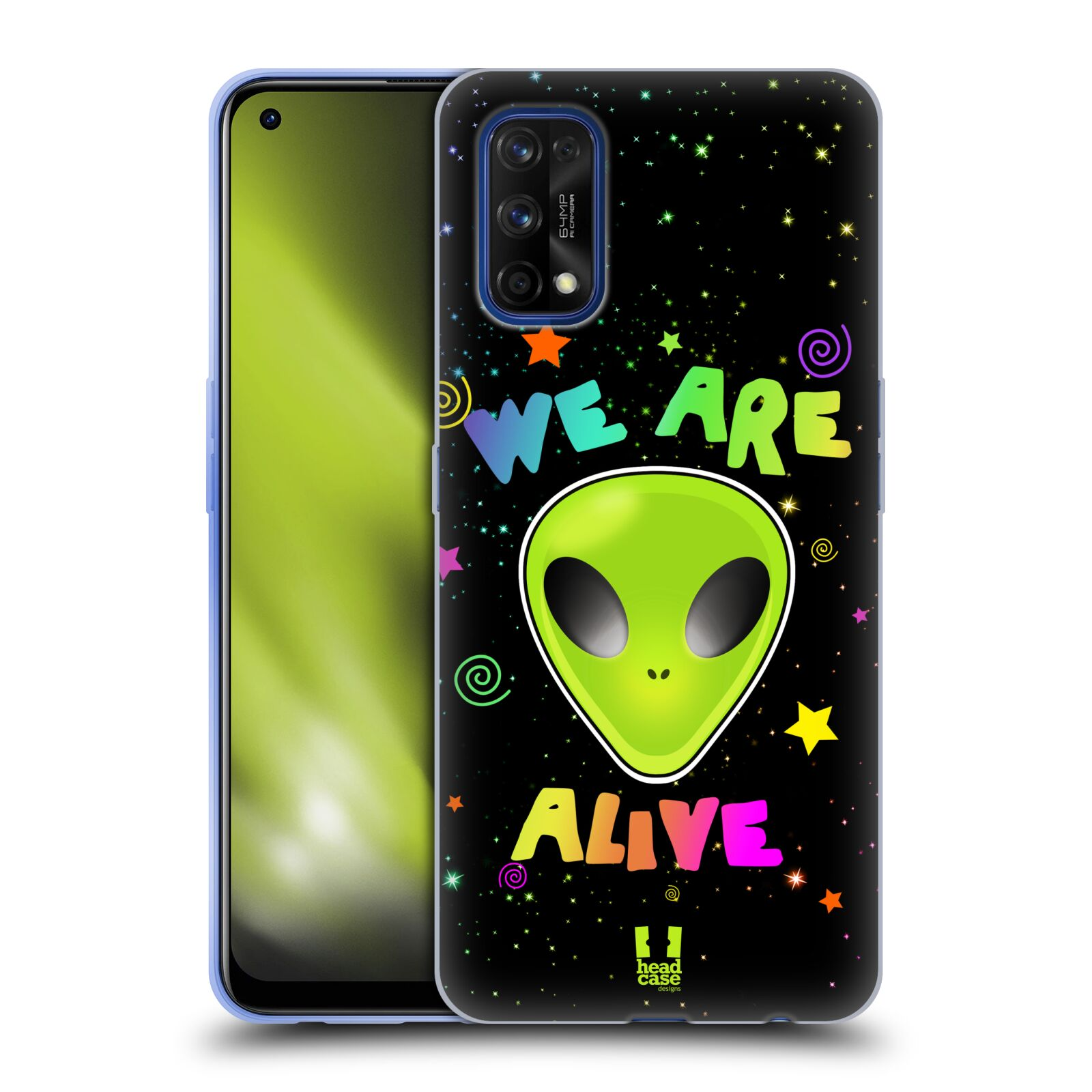 Silikonové pouzdro na mobil Realme 7 Pro - Head Case - ALIENS ALIVE
