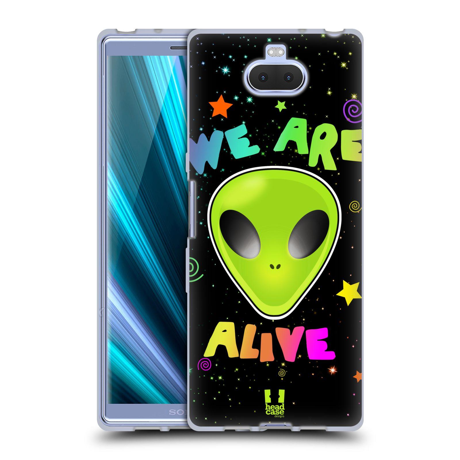 Silikonové pouzdro na mobil Sony Xperia 10 - Head Case - ALIENS ALIVE