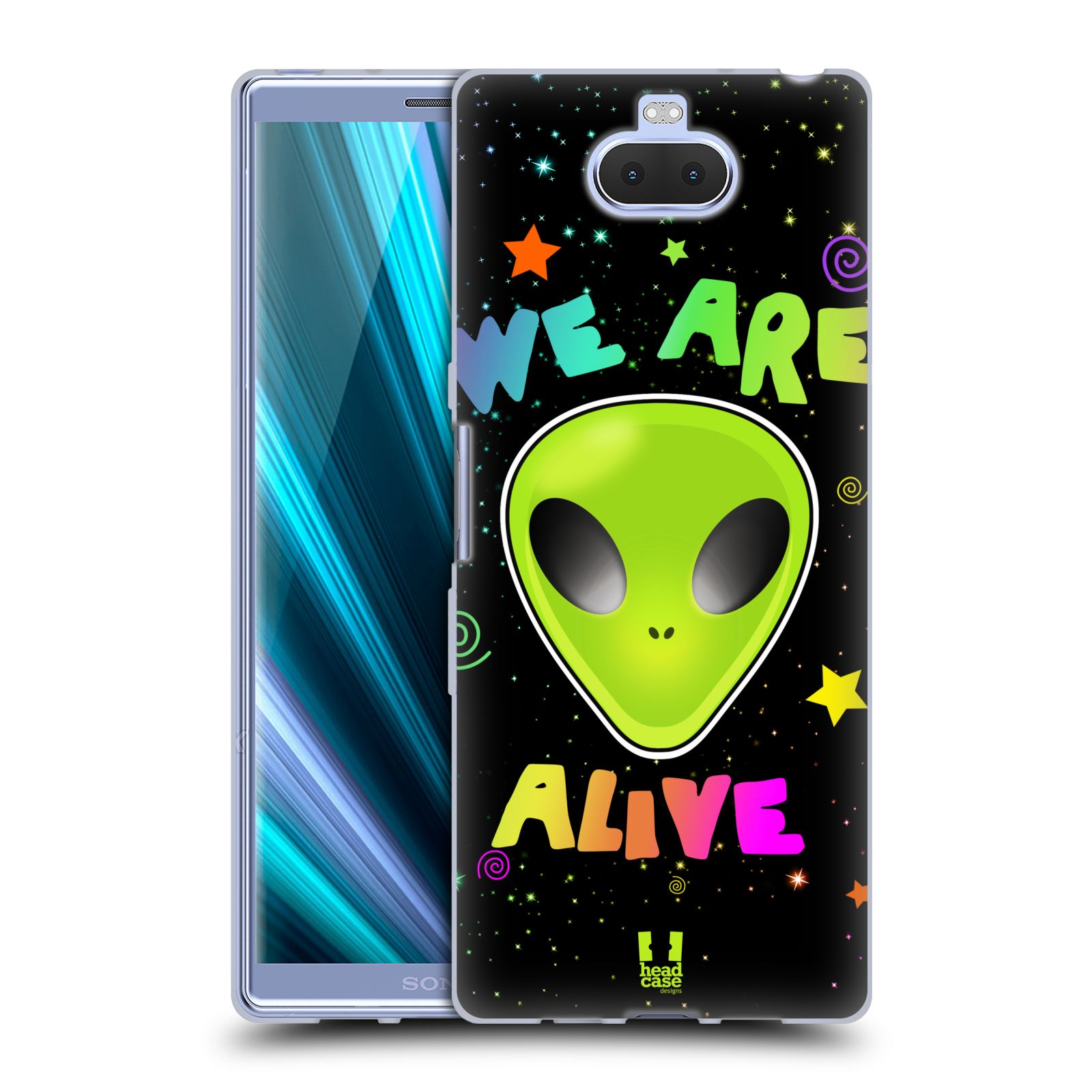 Silikonové pouzdro na mobil Sony Xperia 10 Plus - Head Case - ALIENS ALIVE