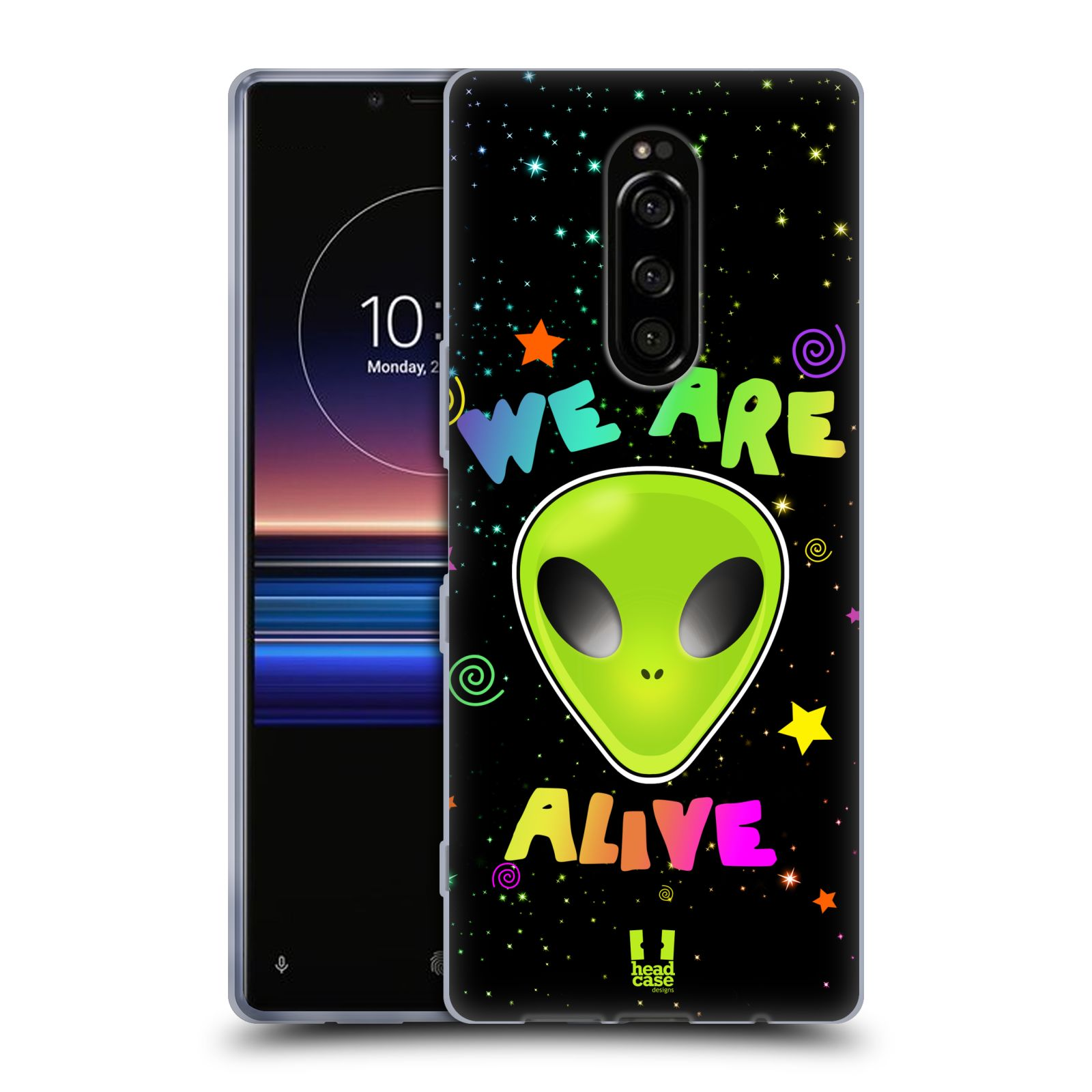 Silikonové pouzdro na mobil Sony Xperia 1 - Head Case - ALIENS ALIVE