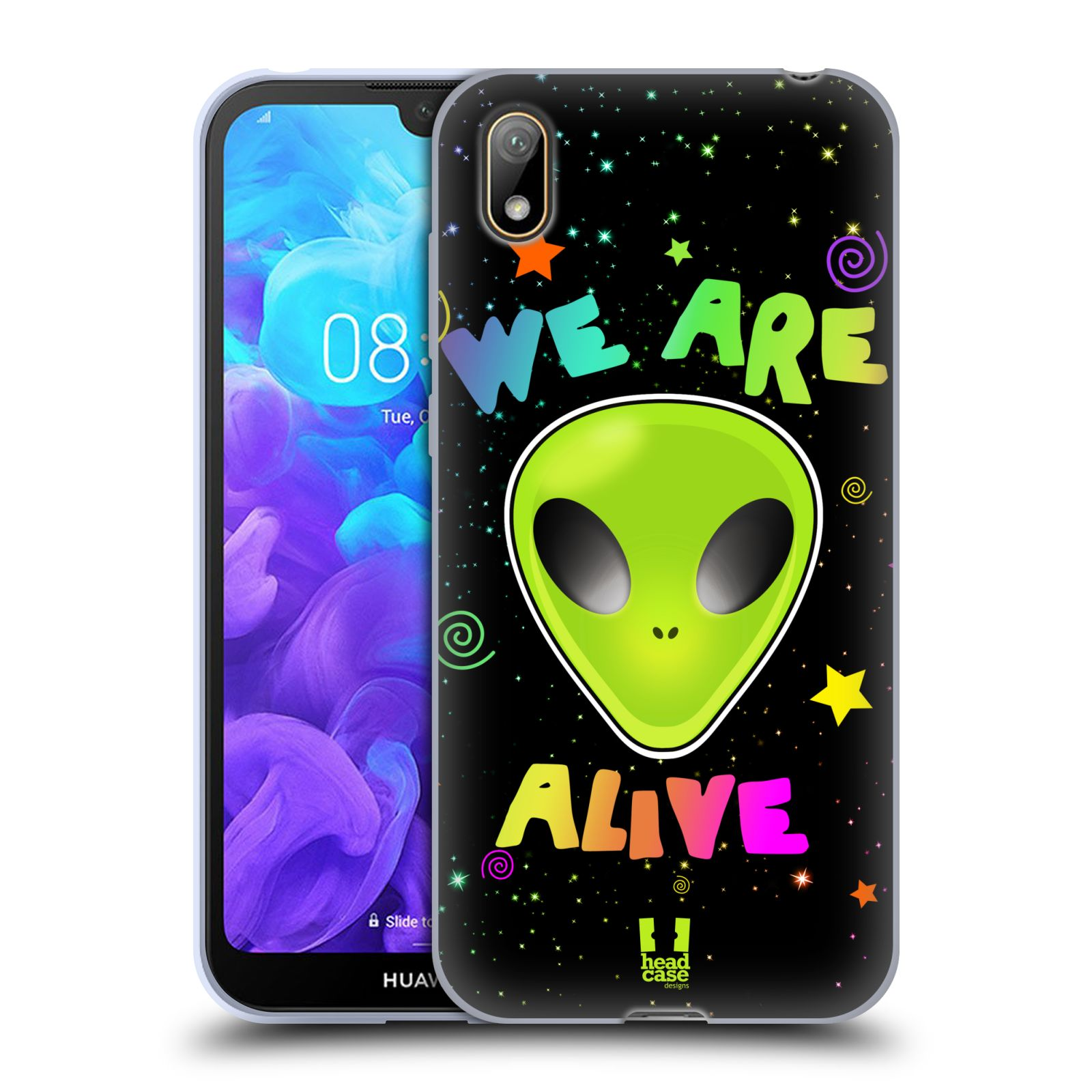 Silikonové pouzdro na mobil Huawei Y5 (2019) - Head Case - ALIENS ALIVE