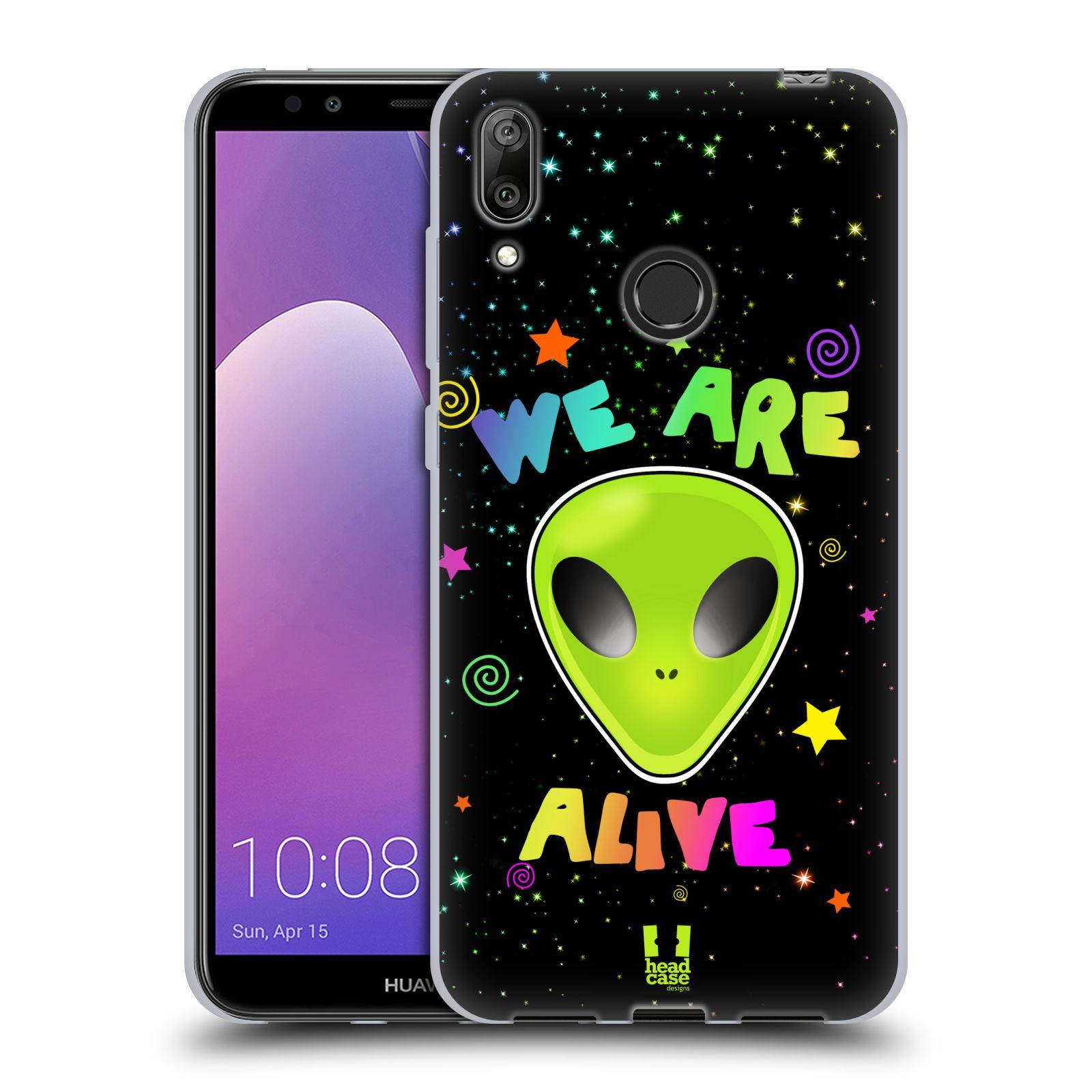 Silikonové pouzdro na mobil Huawei Y7 (2019) - Head Case - ALIENS ALIVE