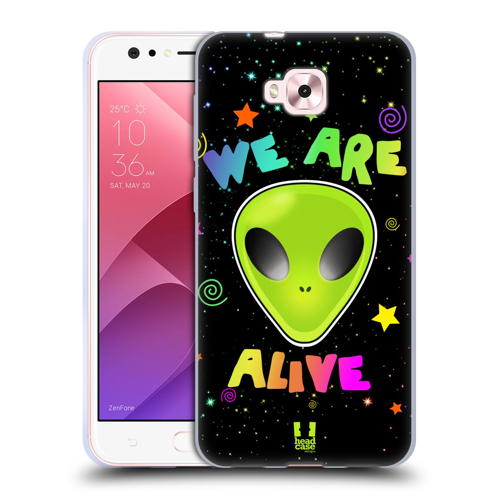 Silikonové pouzdro na mobil Asus Zenfone 4 Selfie ZD553KL - Head Case - ALIENS ALIVE
