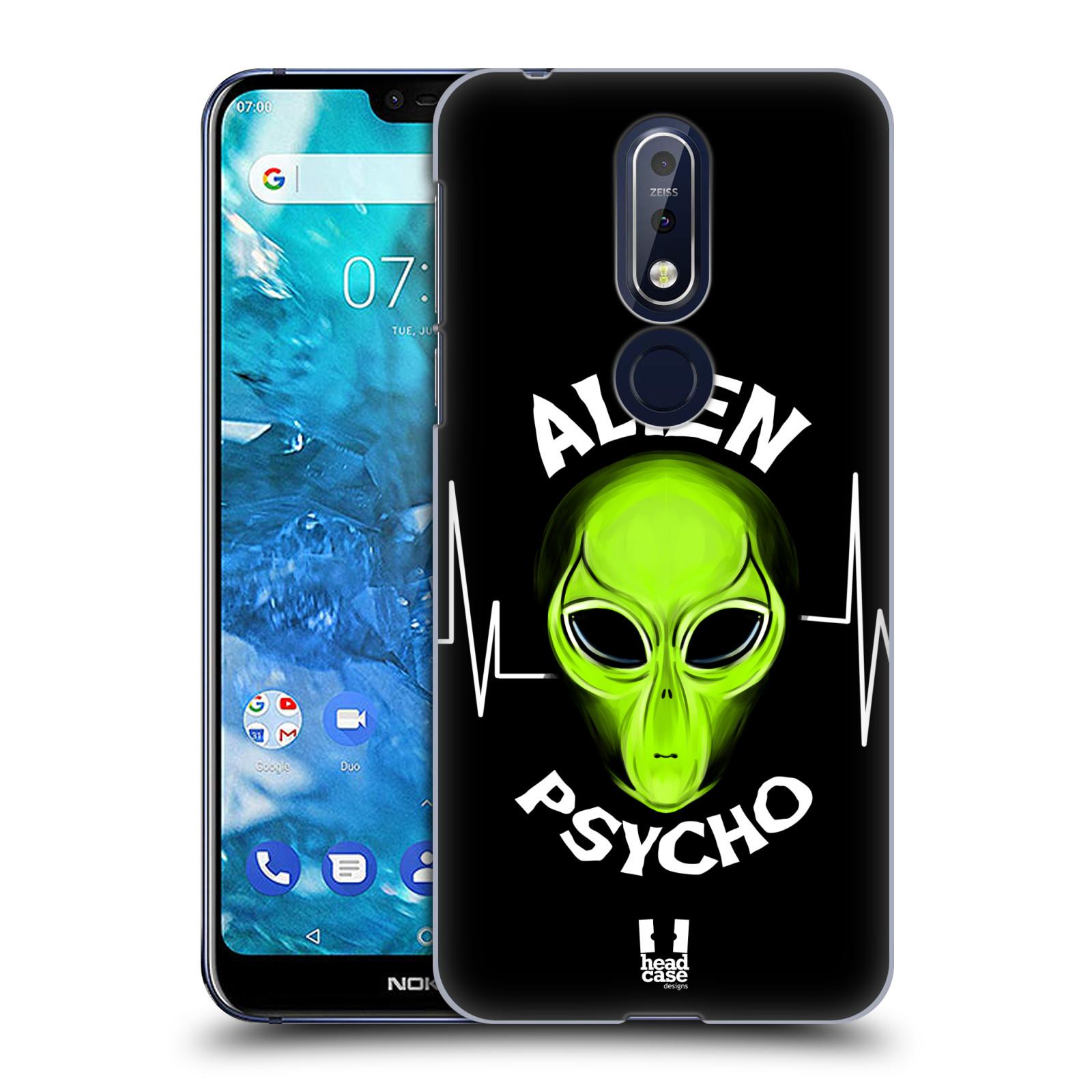 Plastové pouzdro na mobil Nokia 7.1 - Head Case - ALIENS PSYCHO