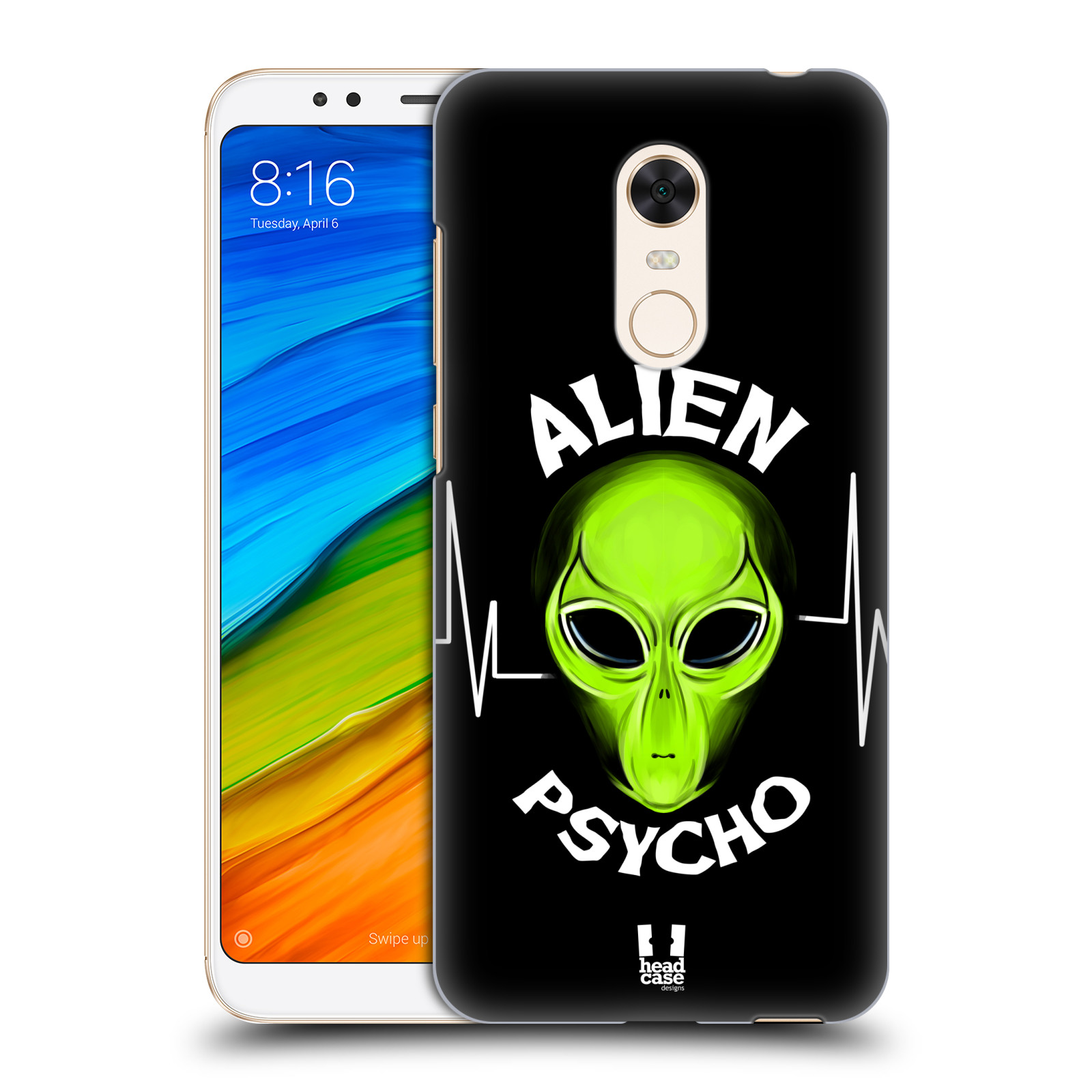 Plastové pouzdro na mobil Xiaomi Redmi 5 Plus - Head Case - ALIENS PSYCHO