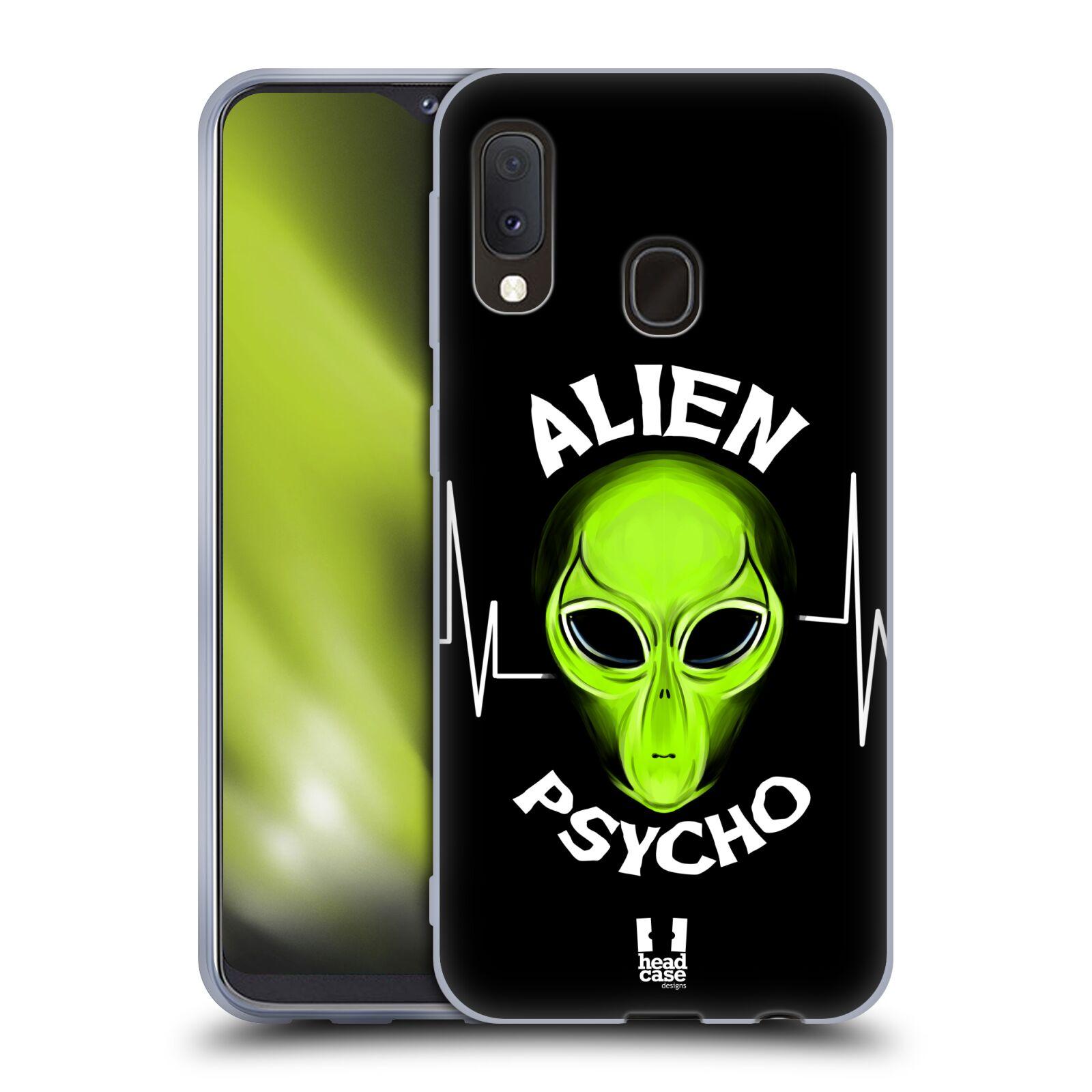 Silikonové pouzdro na mobil Samsung Galaxy A20e - Head Case - ALIENS PSYCHO