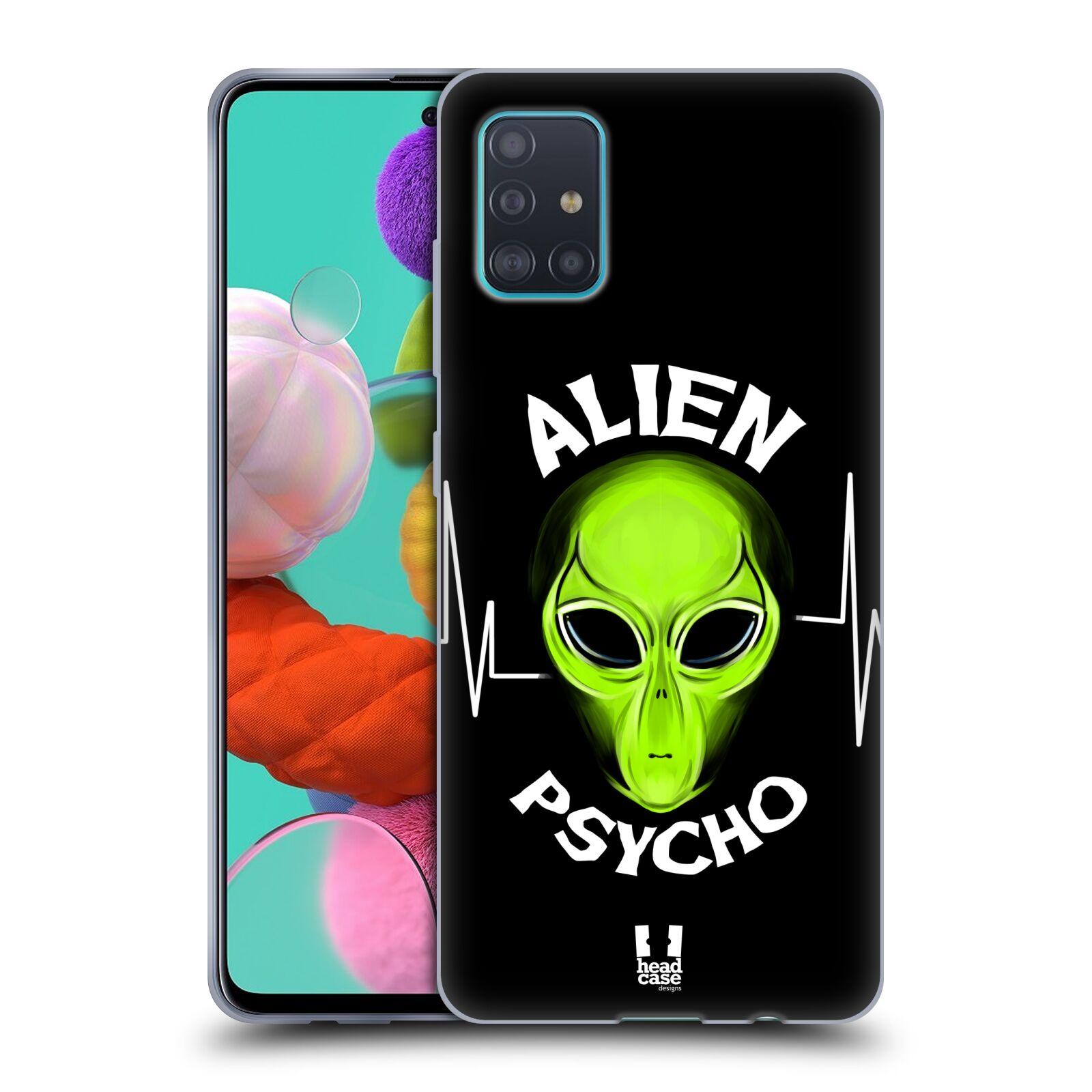 Silikonové pouzdro na mobil Samsung Galaxy A51 - Head Case - ALIENS PSYCHO