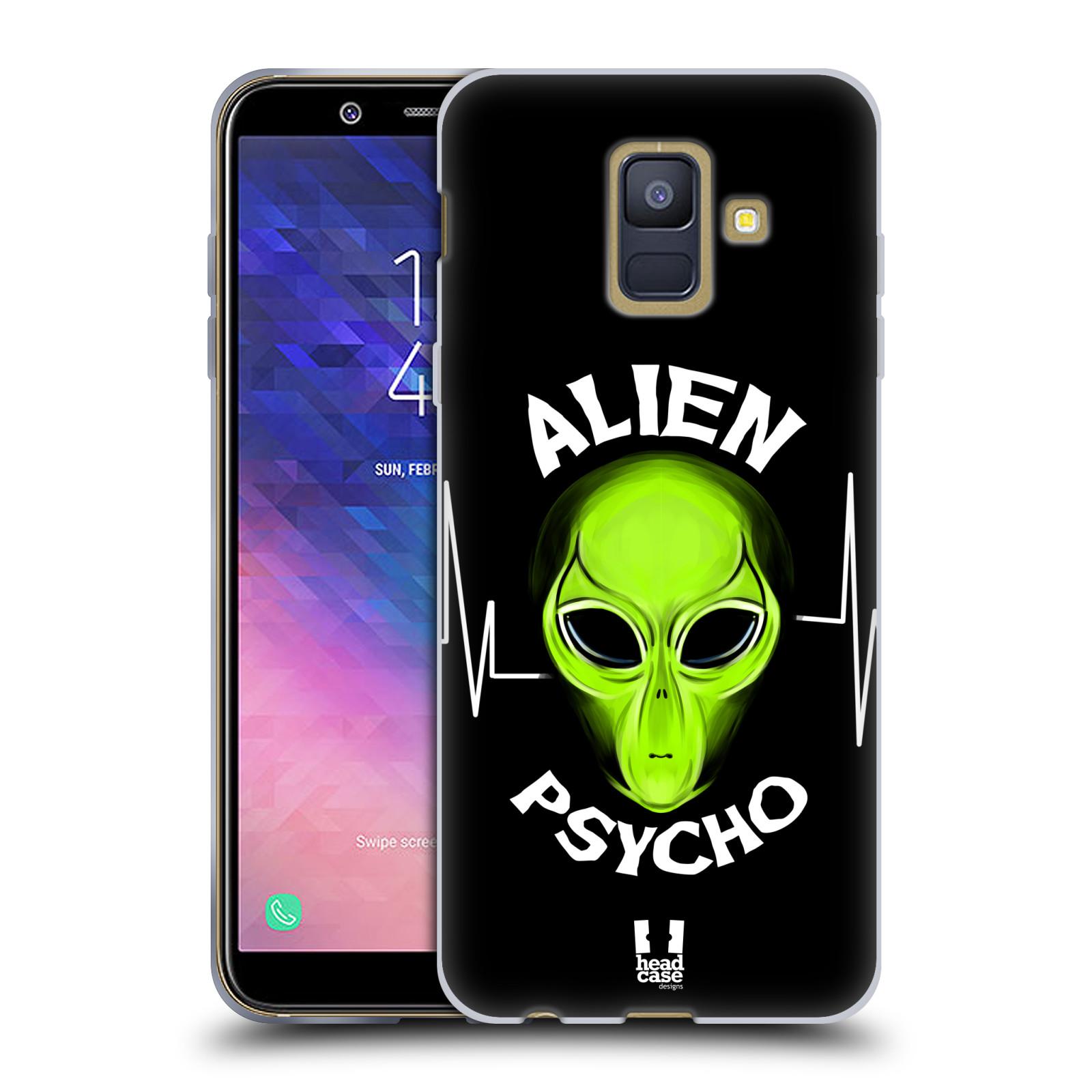 Silikonové pouzdro na mobil Samsung Galaxy A6 (2018) - Head Case - ALIENS PSYCHO