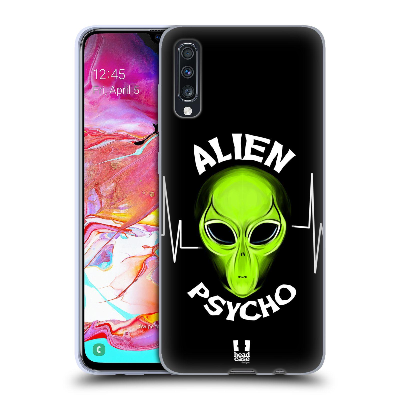 Silikonové pouzdro na mobil Samsung Galaxy A70 - Head Case - ALIENS PSYCHO
