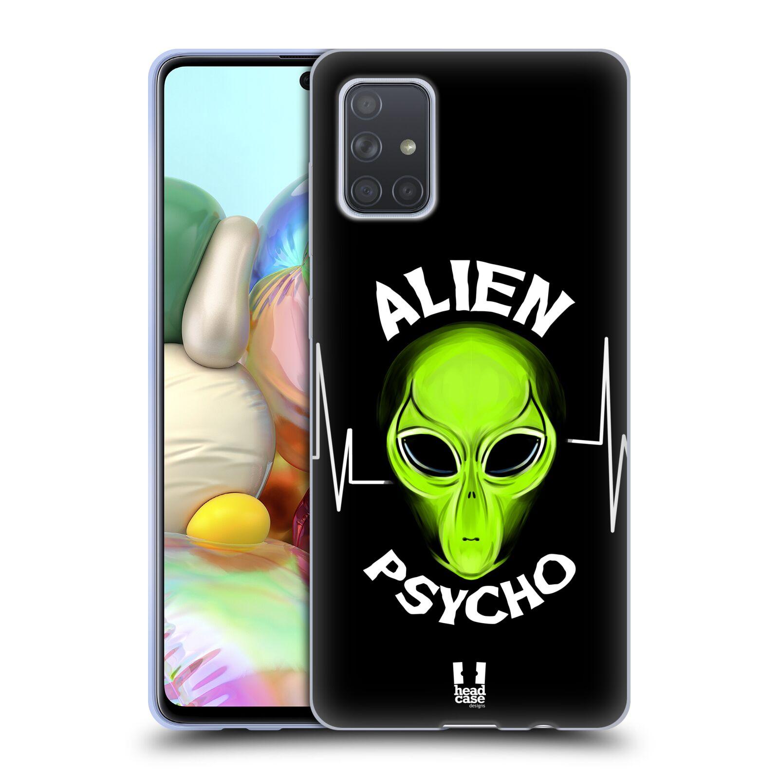 Silikonové pouzdro na mobil Samsung Galaxy A71 - Head Case - ALIENS PSYCHO