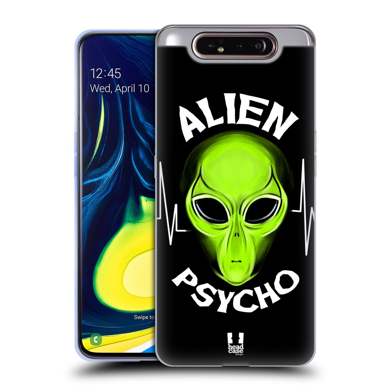 Silikonové pouzdro na mobil Samsung Galaxy A80 - Head Case - ALIENS PSYCHO