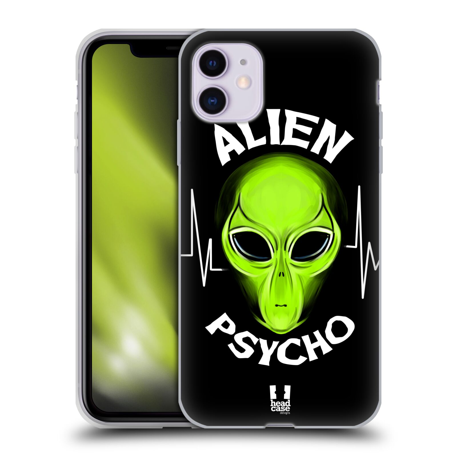 Silikonové pouzdro na mobil Apple iPhone 11 - Head Case - ALIENS PSYCHO