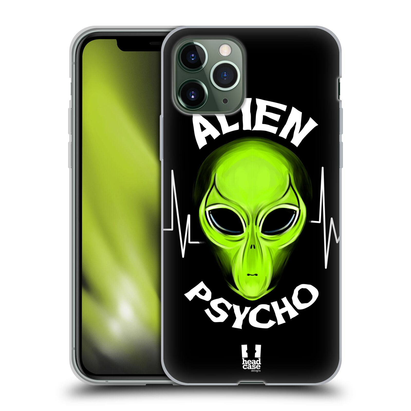 kryt na apple iphone 8 - Silikonové pouzdro na mobil Apple iPhone 11 Pro - Head Case - ALIENS PSYCHO