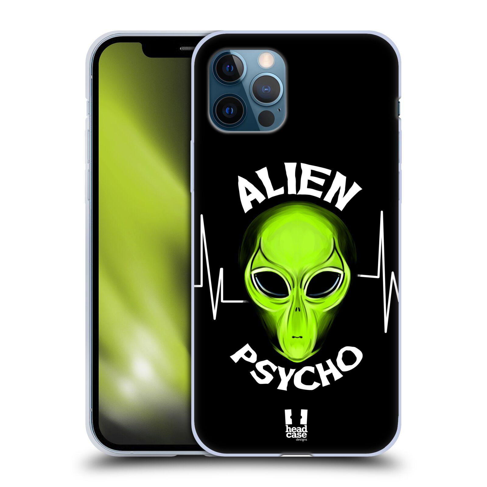 Silikonové pouzdro na mobil Apple iPhone 12 / 12 Pro - Head Case - ALIENS PSYCHO