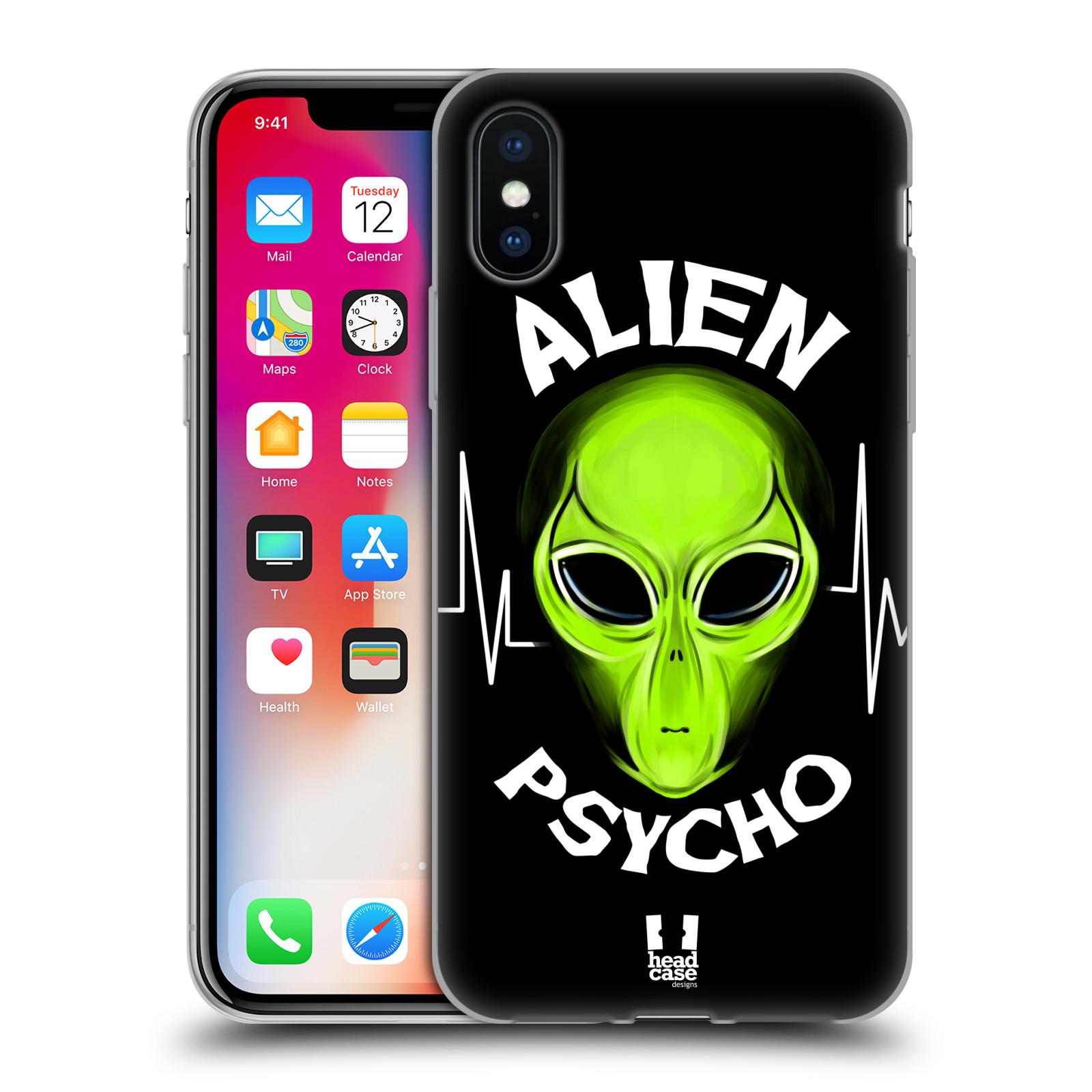 Silikonové pouzdro na mobil Apple iPhone XS - Head Case - ALIENS PSYCHO