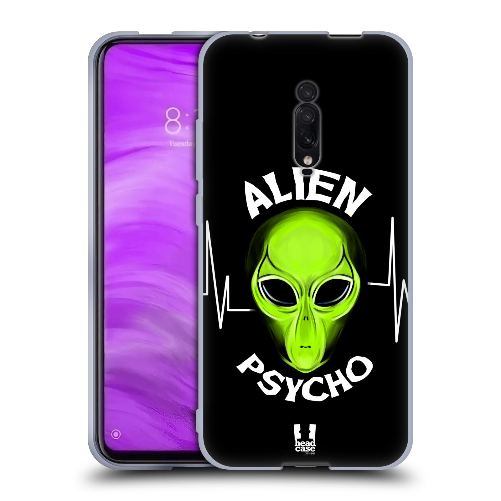 Silikonové pouzdro na mobil Xiaomi Mi 9T - Head Case - ALIENS PSYCHO
