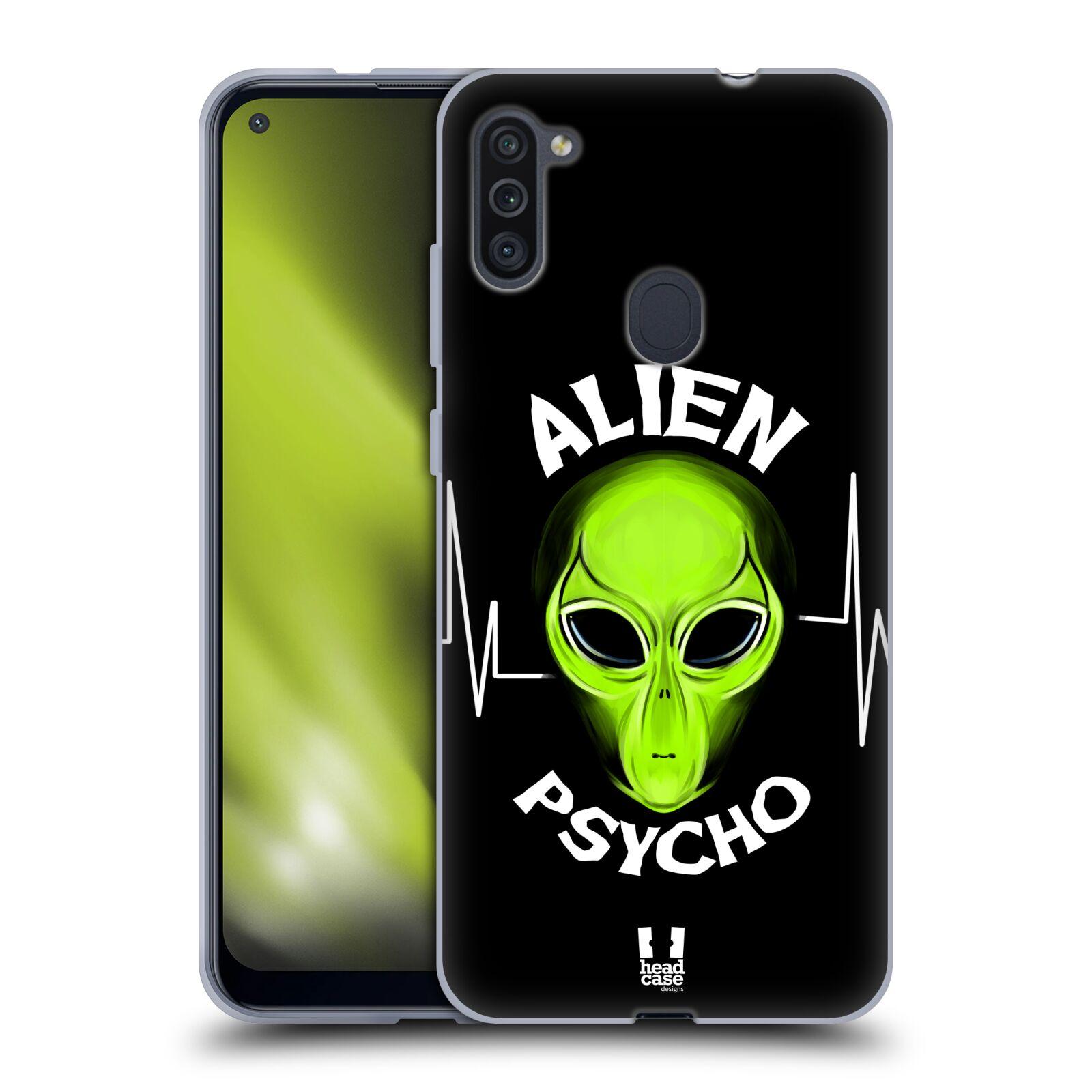 Silikonové pouzdro na mobil Samsung Galaxy M11 - Head Case - ALIENS PSYCHO