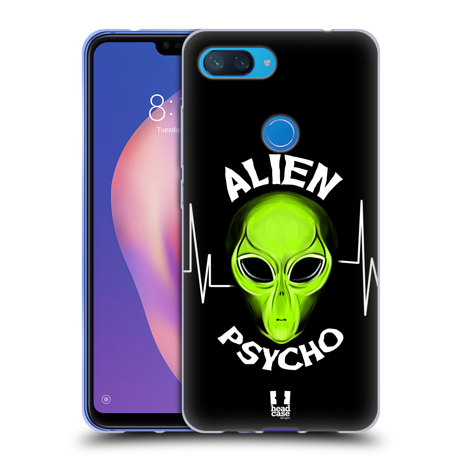 Silikonové pouzdro na mobil Xiaomi Mi 8 Lite - Head Case - ALIENS PSYCHO