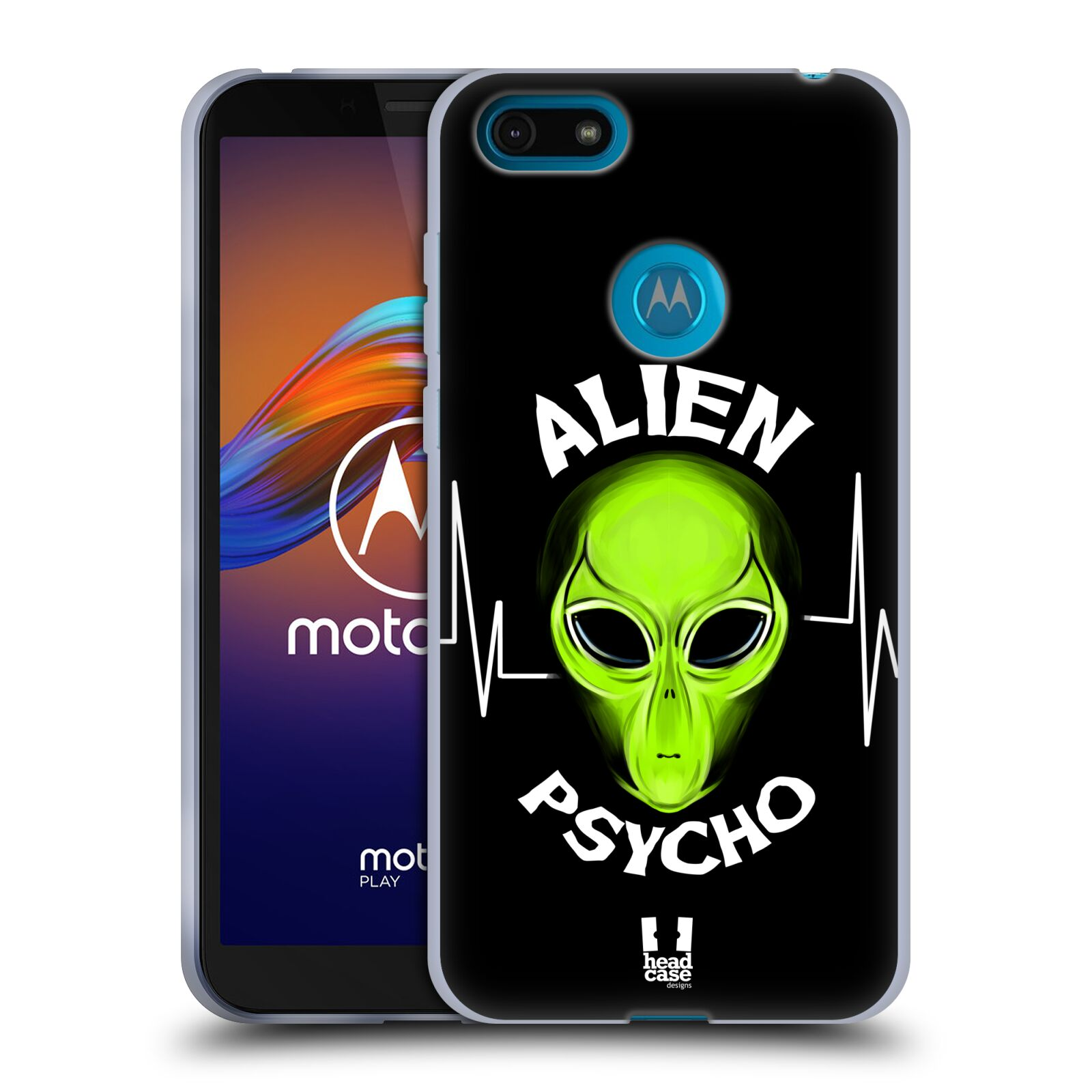 Silikonové pouzdro na mobil Motorola Moto E6 Play - Head Case - ALIENS PSYCHO