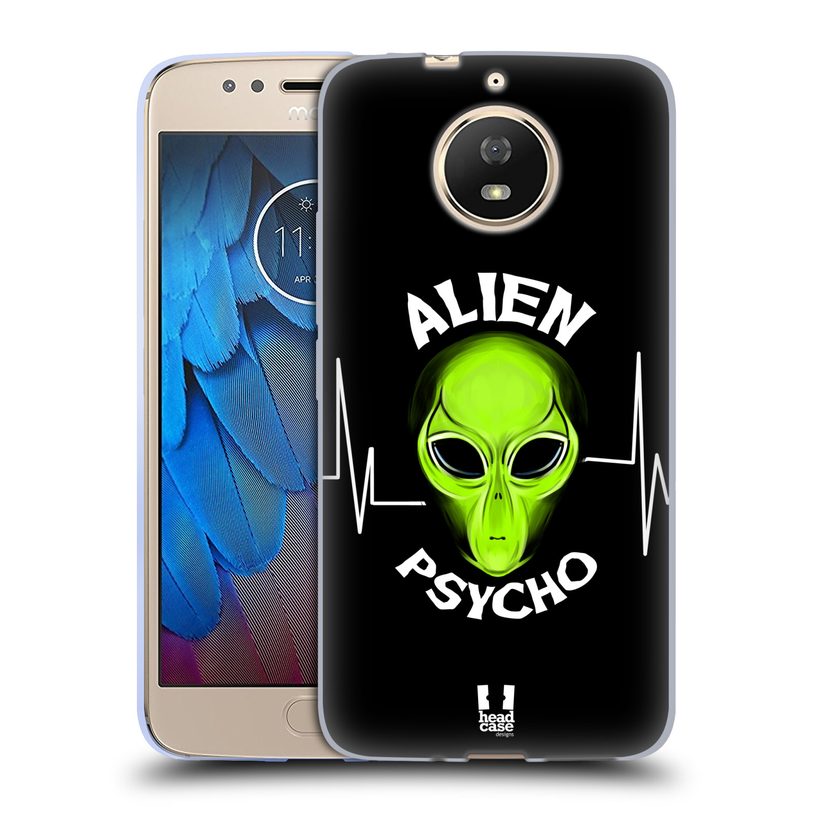 Silikonové pouzdro na mobil Lenovo Moto G5s - Head Case - ALIENS PSYCHO