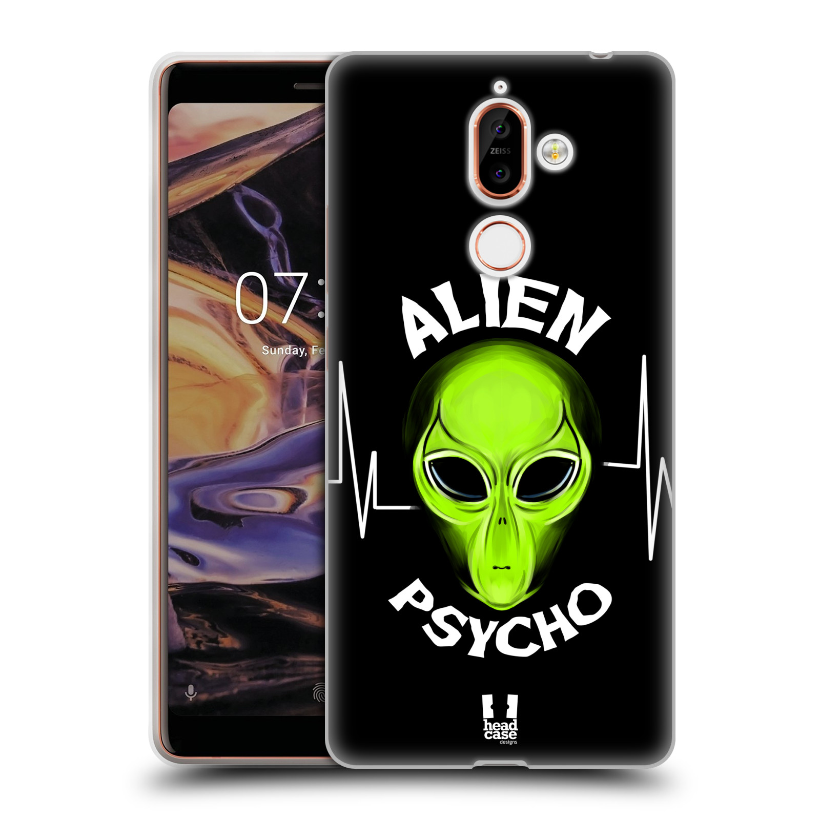 Silikonové pouzdro na mobil Nokia 7 Plus - Head Case - ALIENS PSYCHO