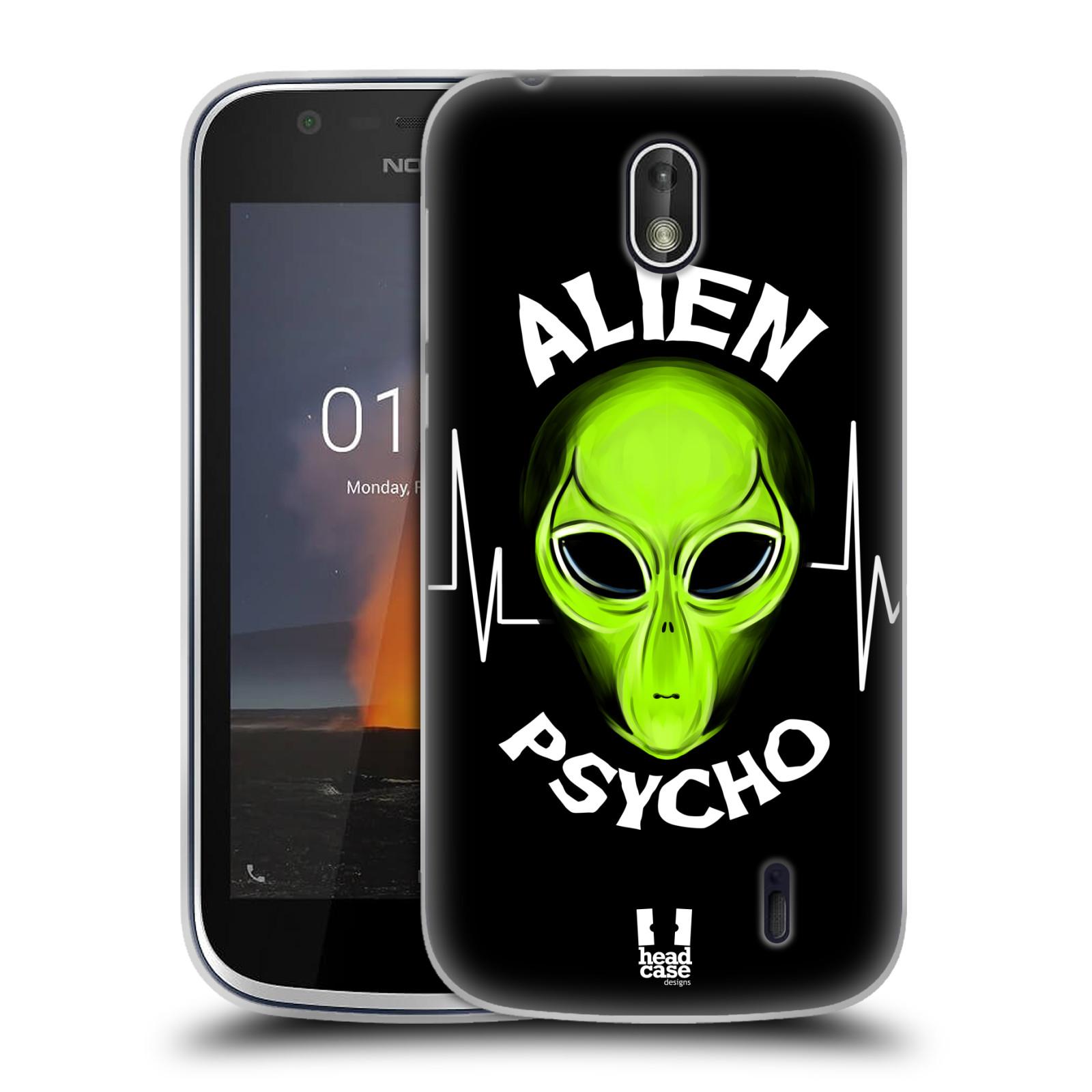 Silikonové pouzdro na mobil Nokia 1 - Head Case - ALIENS PSYCHO