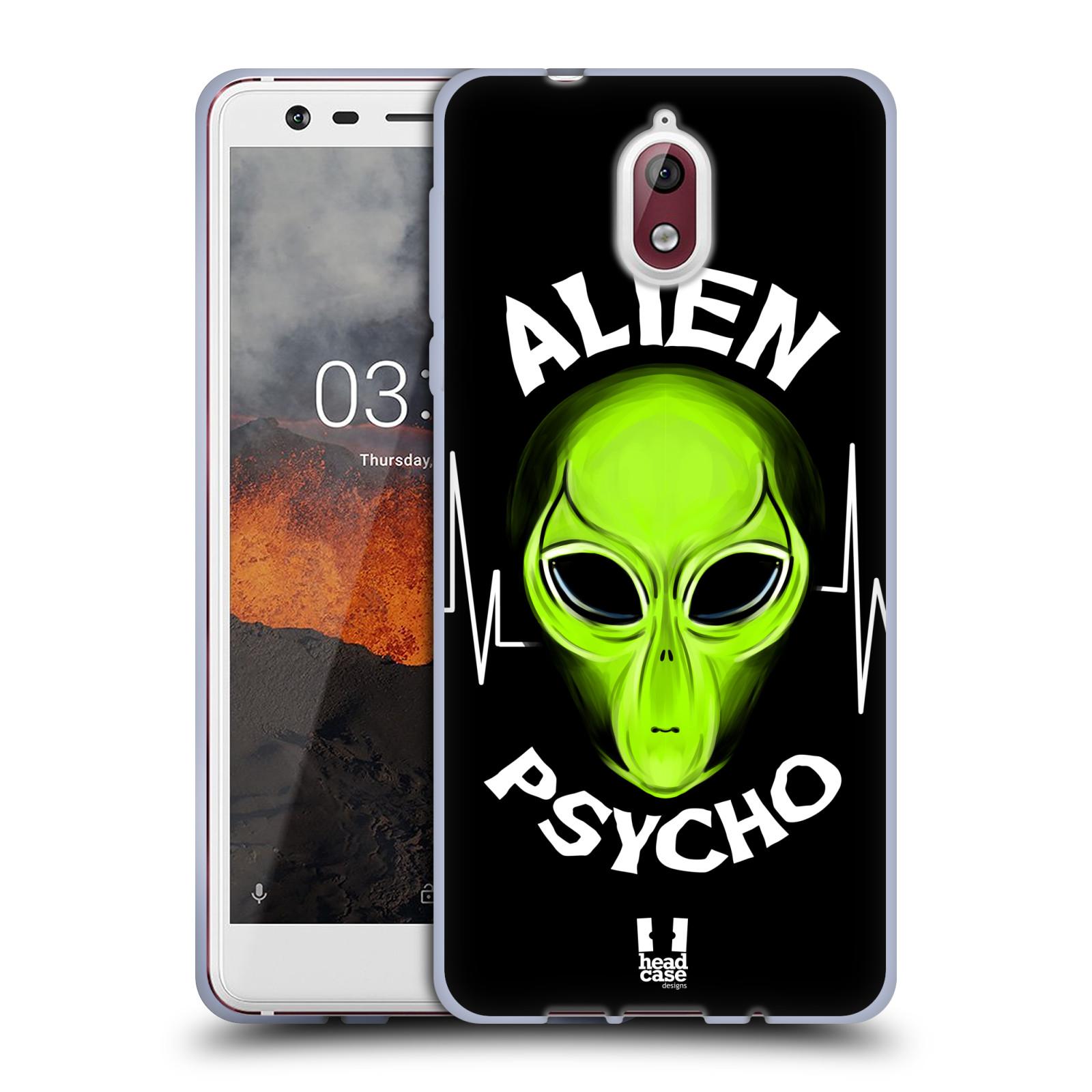 Silikonové pouzdro na mobil Nokia 3.1 - Head Case - ALIENS PSYCHO
