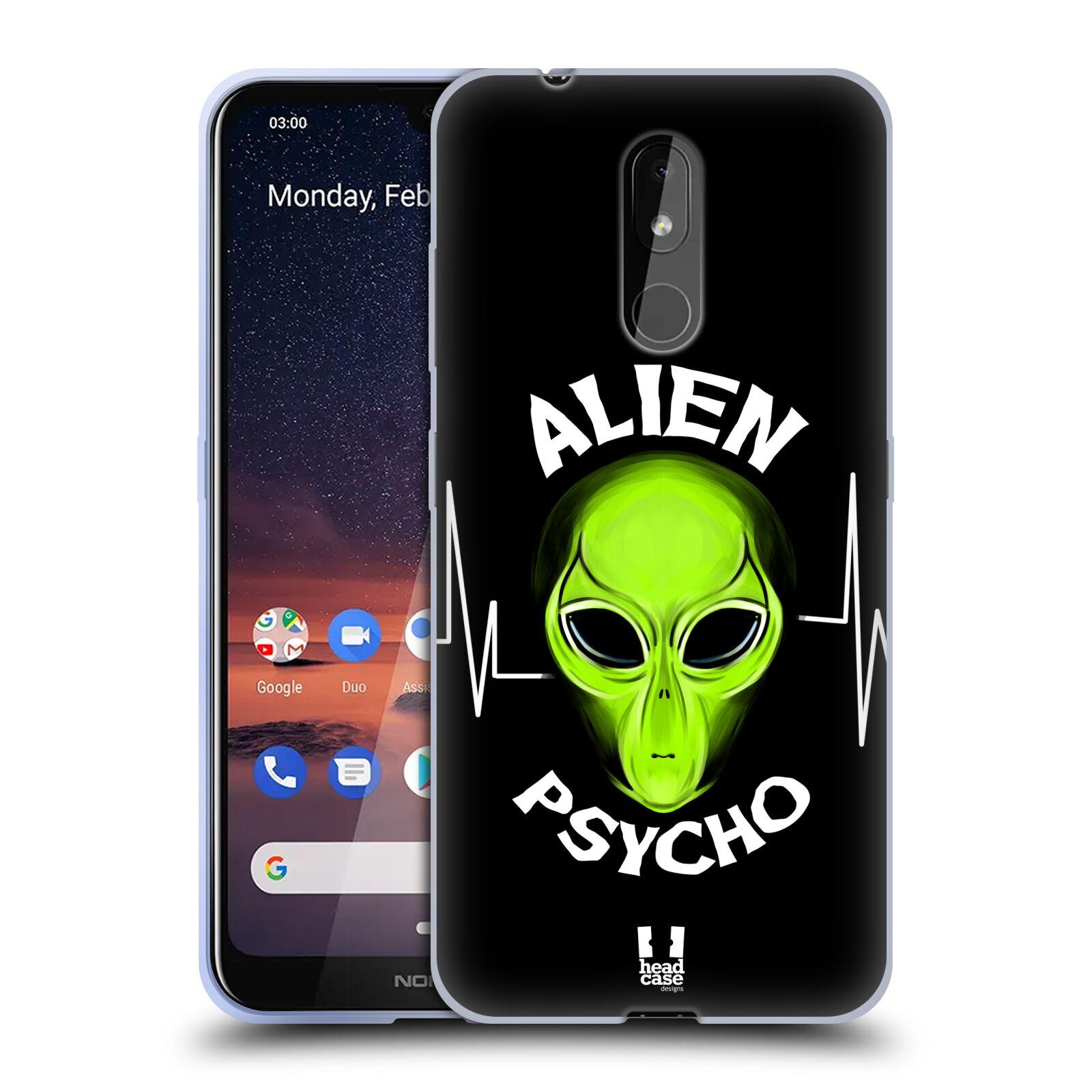 Silikonové pouzdro na mobil Nokia 3.2 - Head Case - ALIENS PSYCHO