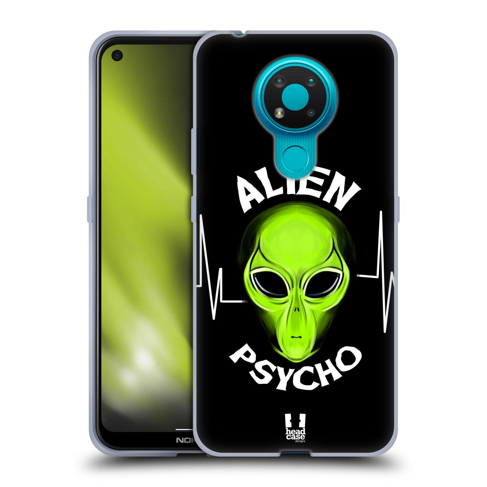 Silikonové pouzdro na mobil Nokia 3.4 - Head Case - ALIENS PSYCHO