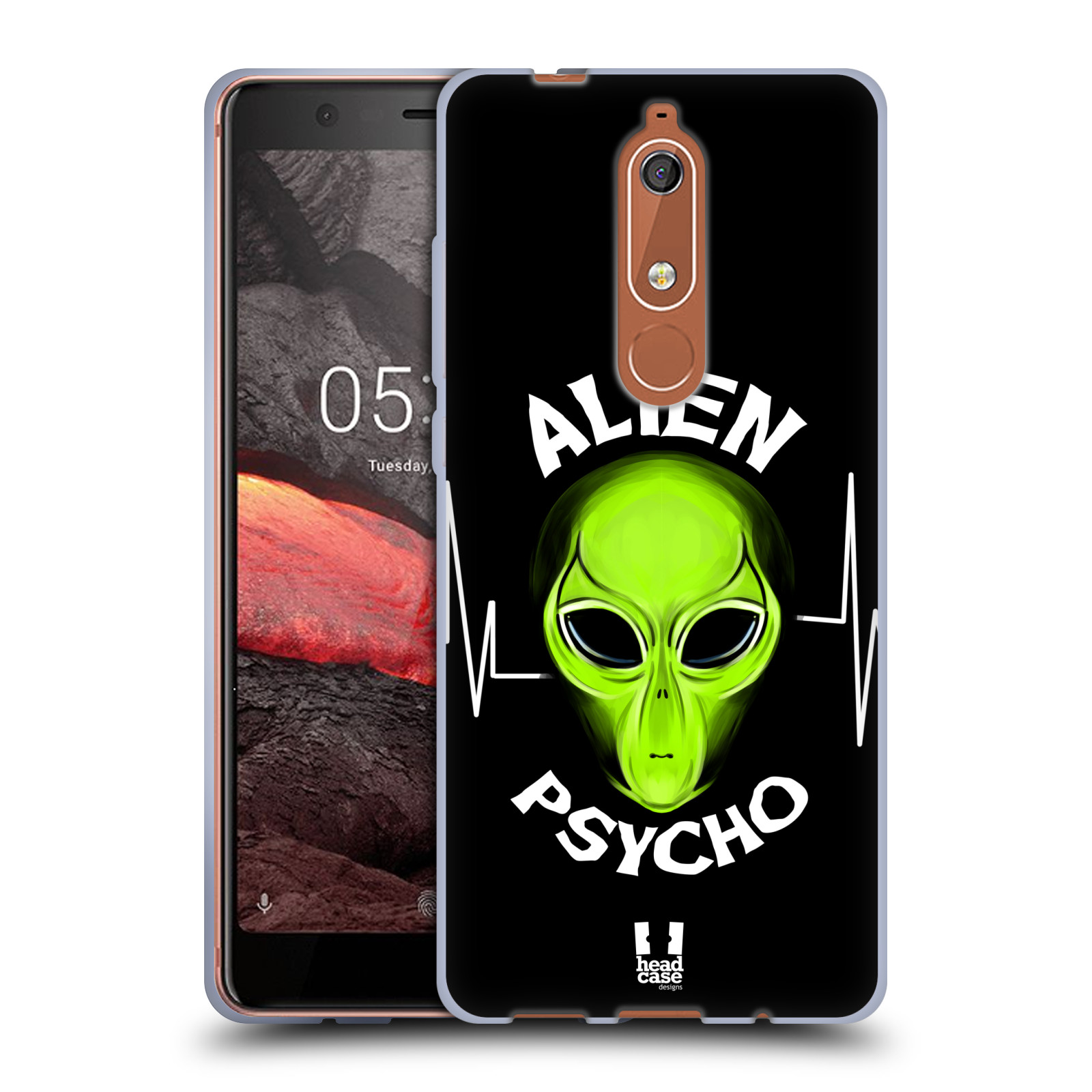 Silikonové pouzdro na mobil Nokia 5.1 - Head Case - ALIENS PSYCHO