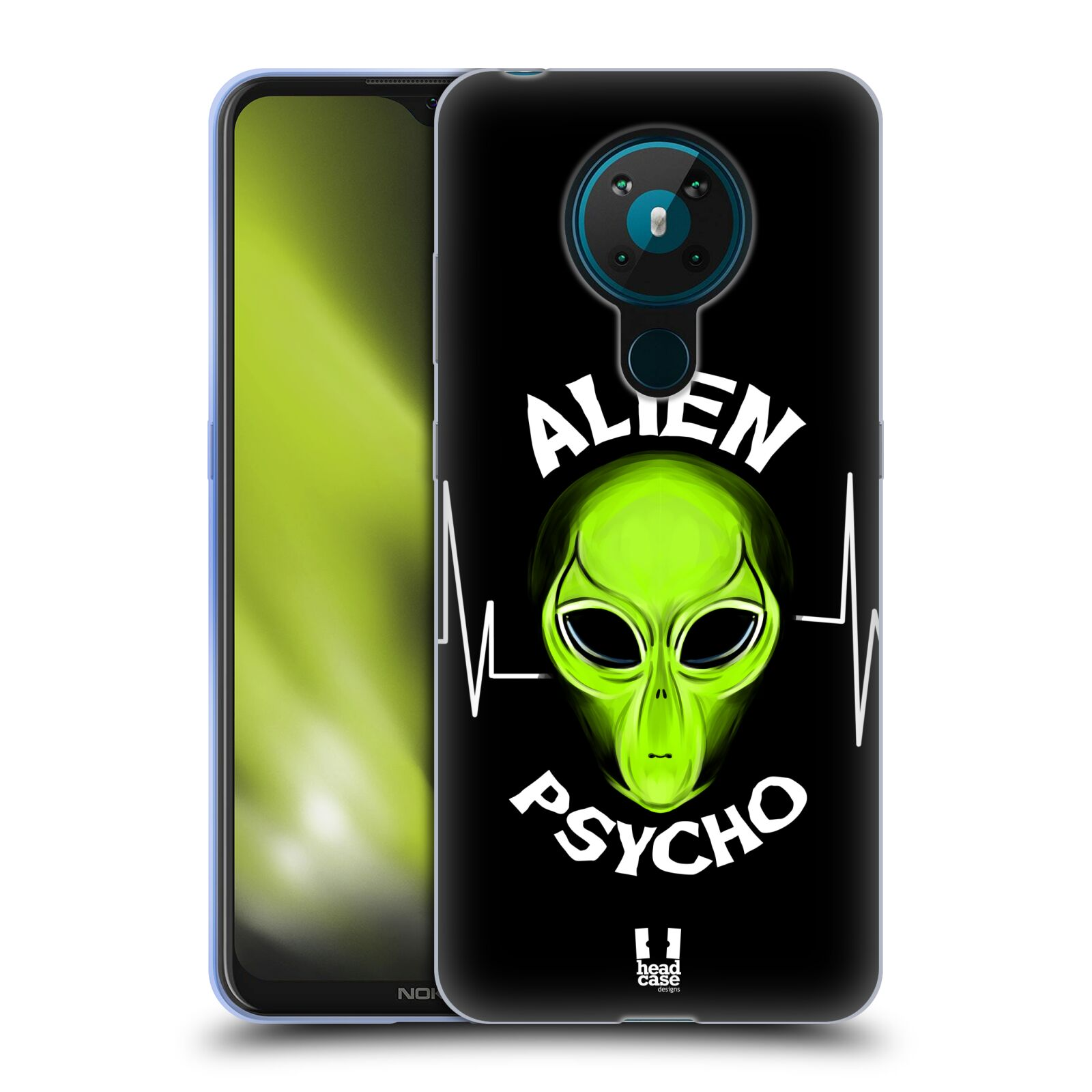 Silikonové pouzdro na mobil Nokia 5.3 - Head Case - ALIENS PSYCHO