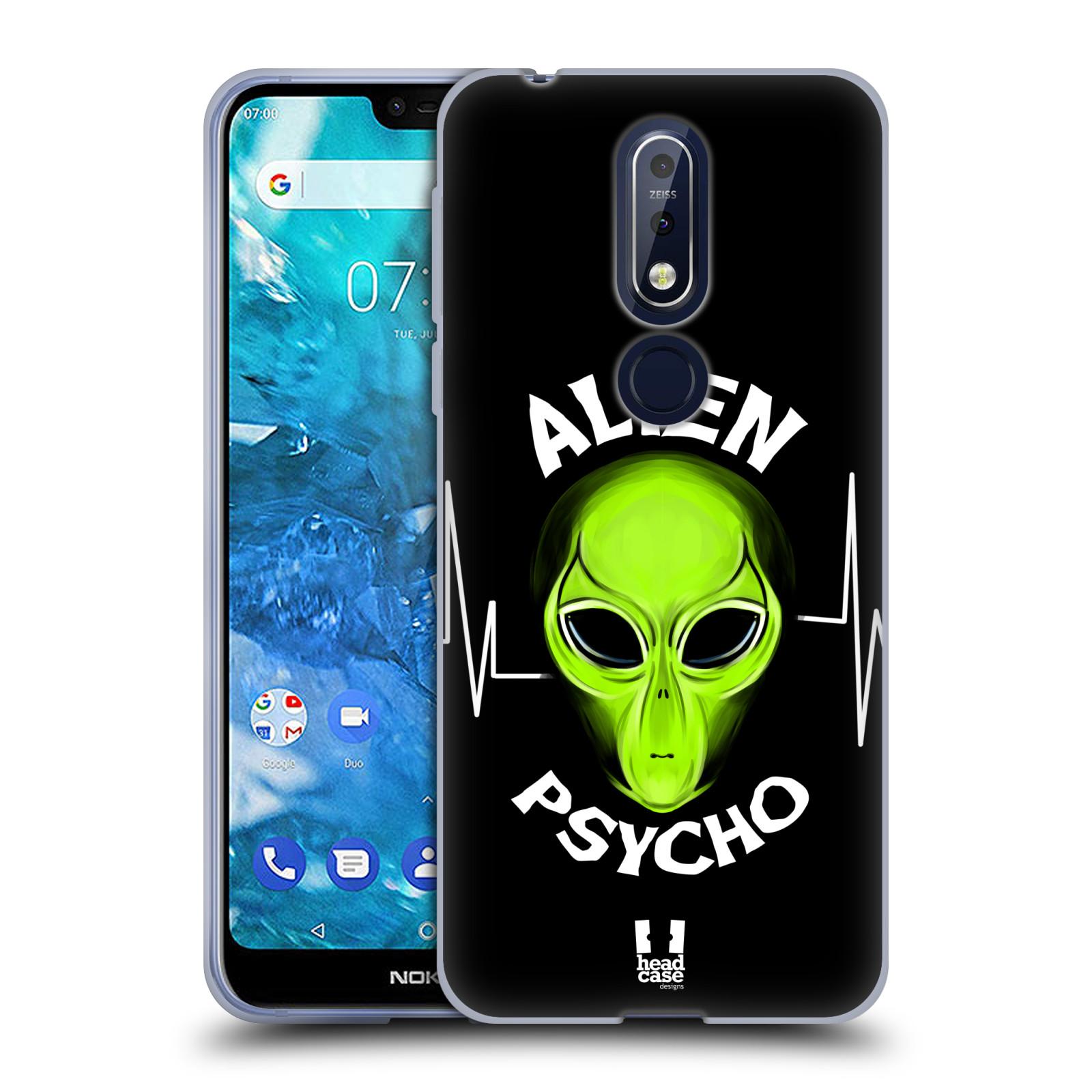 Silikonové pouzdro na mobil Nokia 7.1 - Head Case - ALIENS PSYCHO
