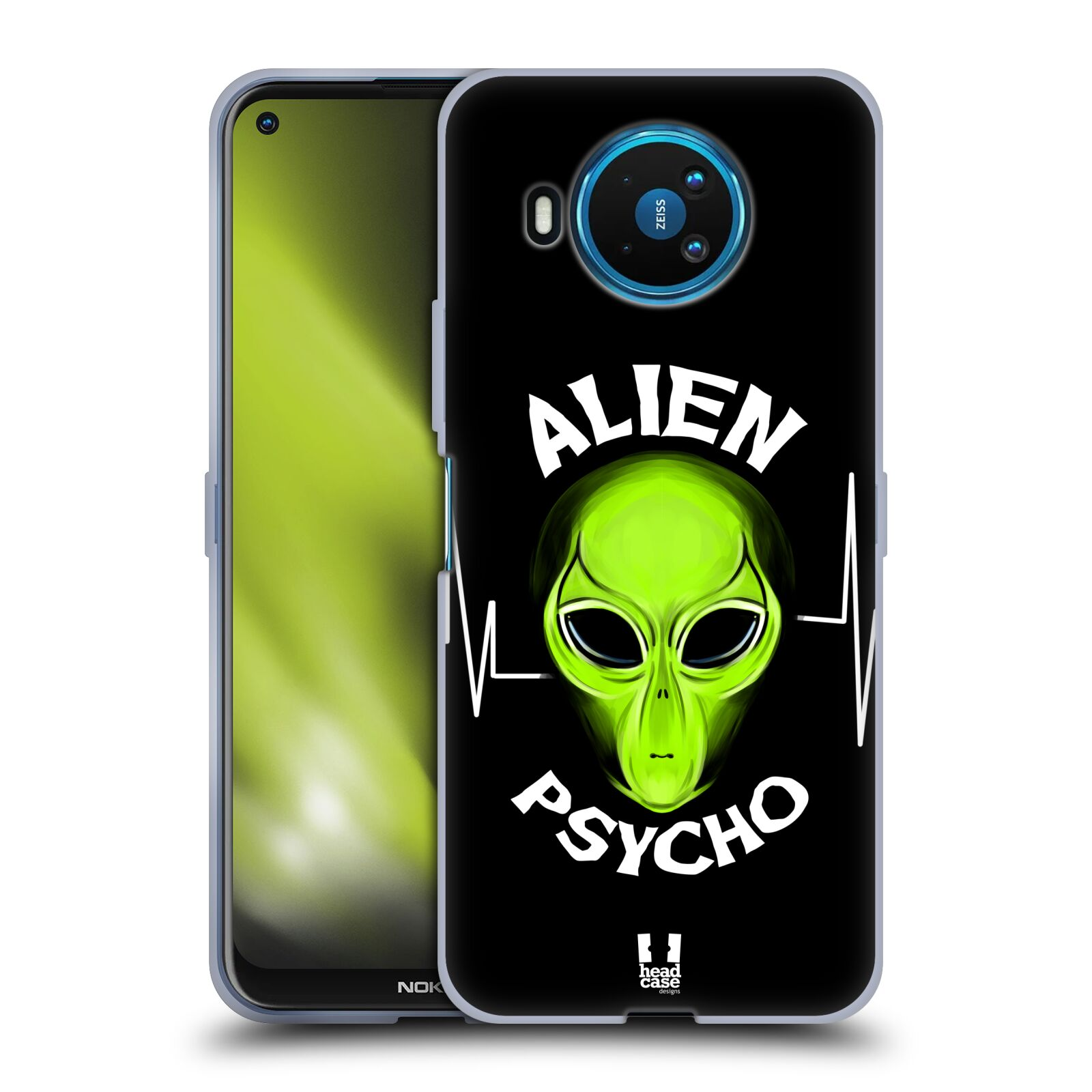 Silikonové pouzdro na mobil Nokia 8.3 5G - Head Case - ALIENS PSYCHO