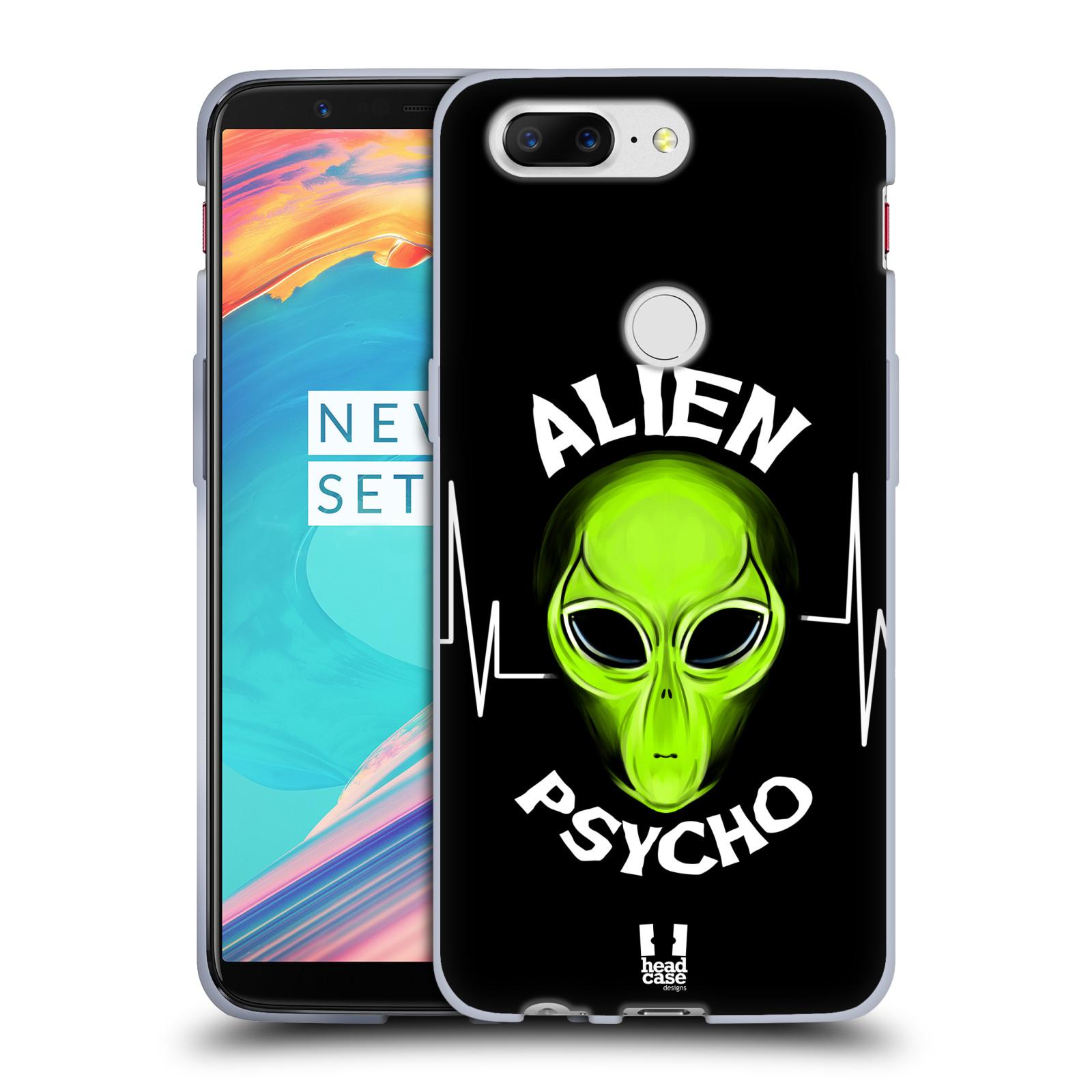 Silikonové pouzdro na mobil OnePlus 5T - Head Case - ALIENS PSYCHO