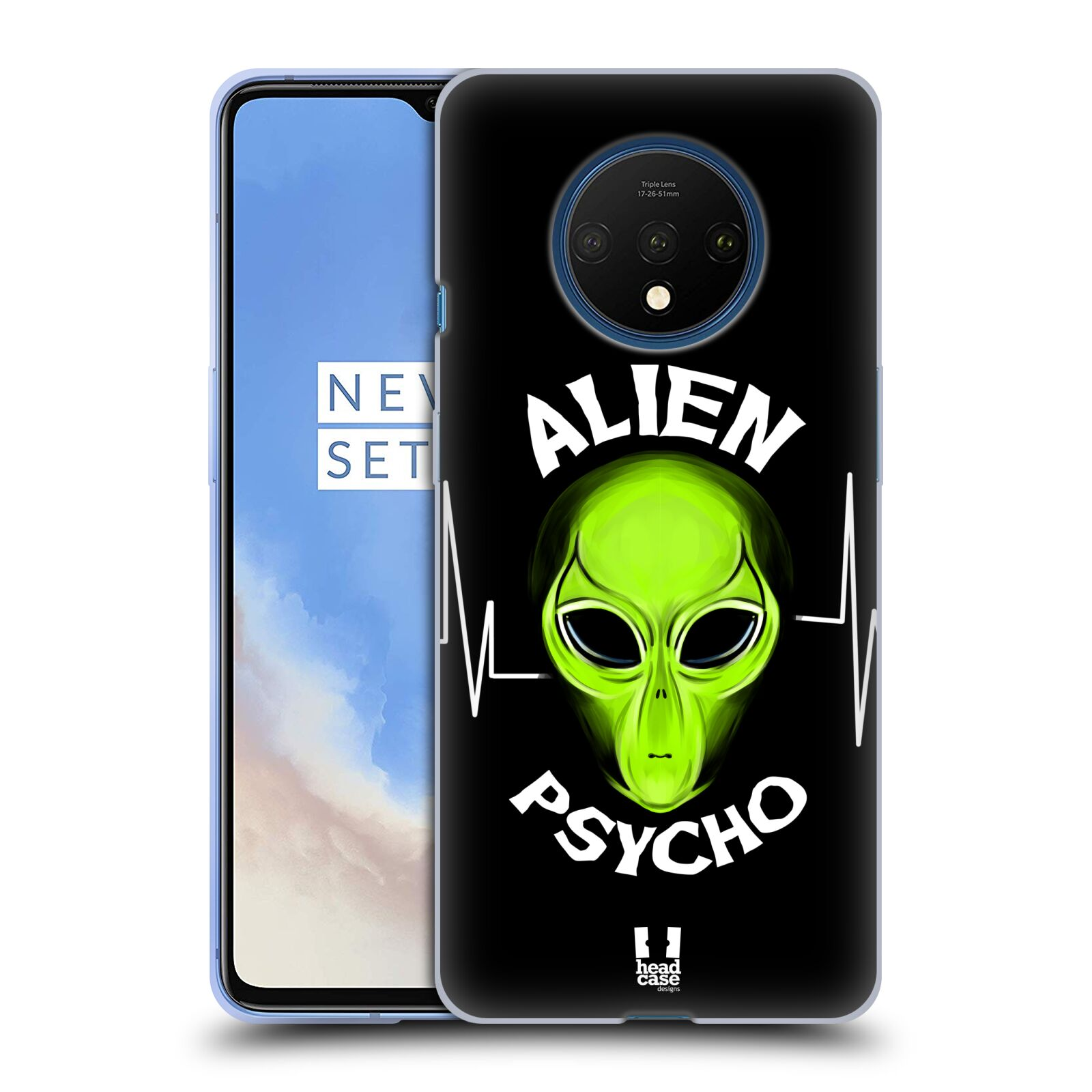 Silikonové pouzdro na mobil OnePlus 7T - Head Case - ALIENS PSYCHO