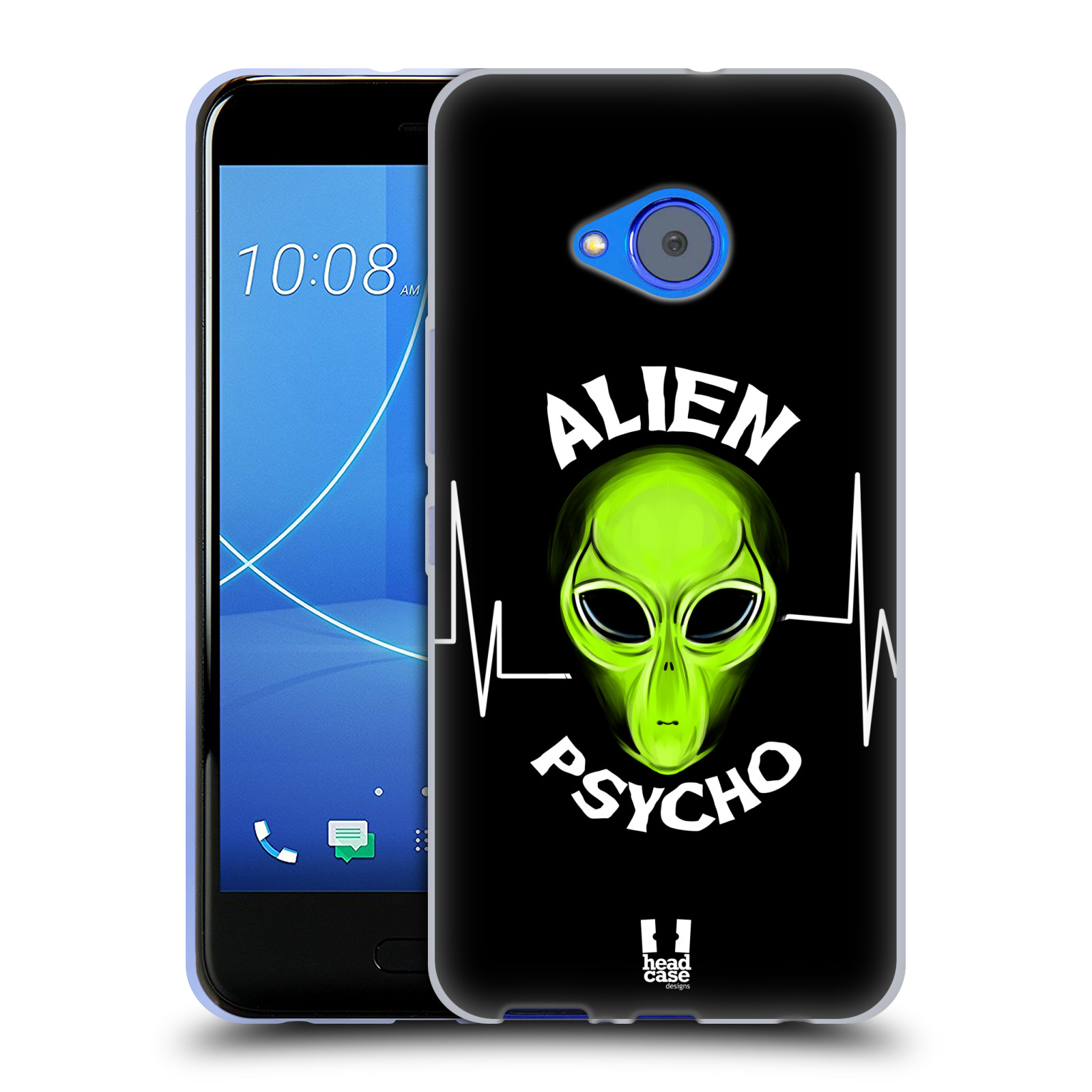 Silikonové pouzdro na mobil HTC U11 Life - Head Case - ALIENS PSYCHO